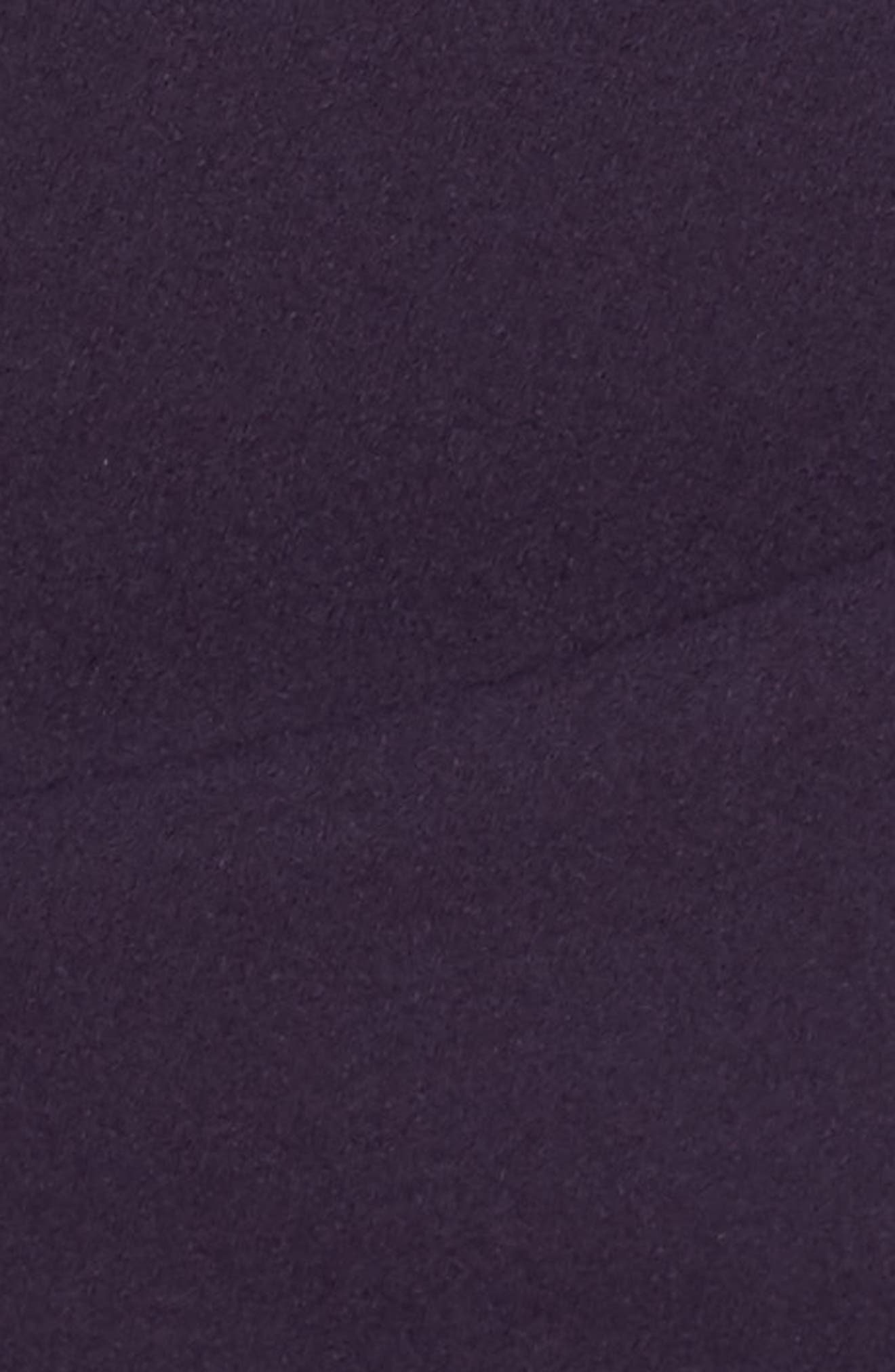 Long Beaded Shoulder Dress,                             Alternate thumbnail 5, color,                             Aubergine