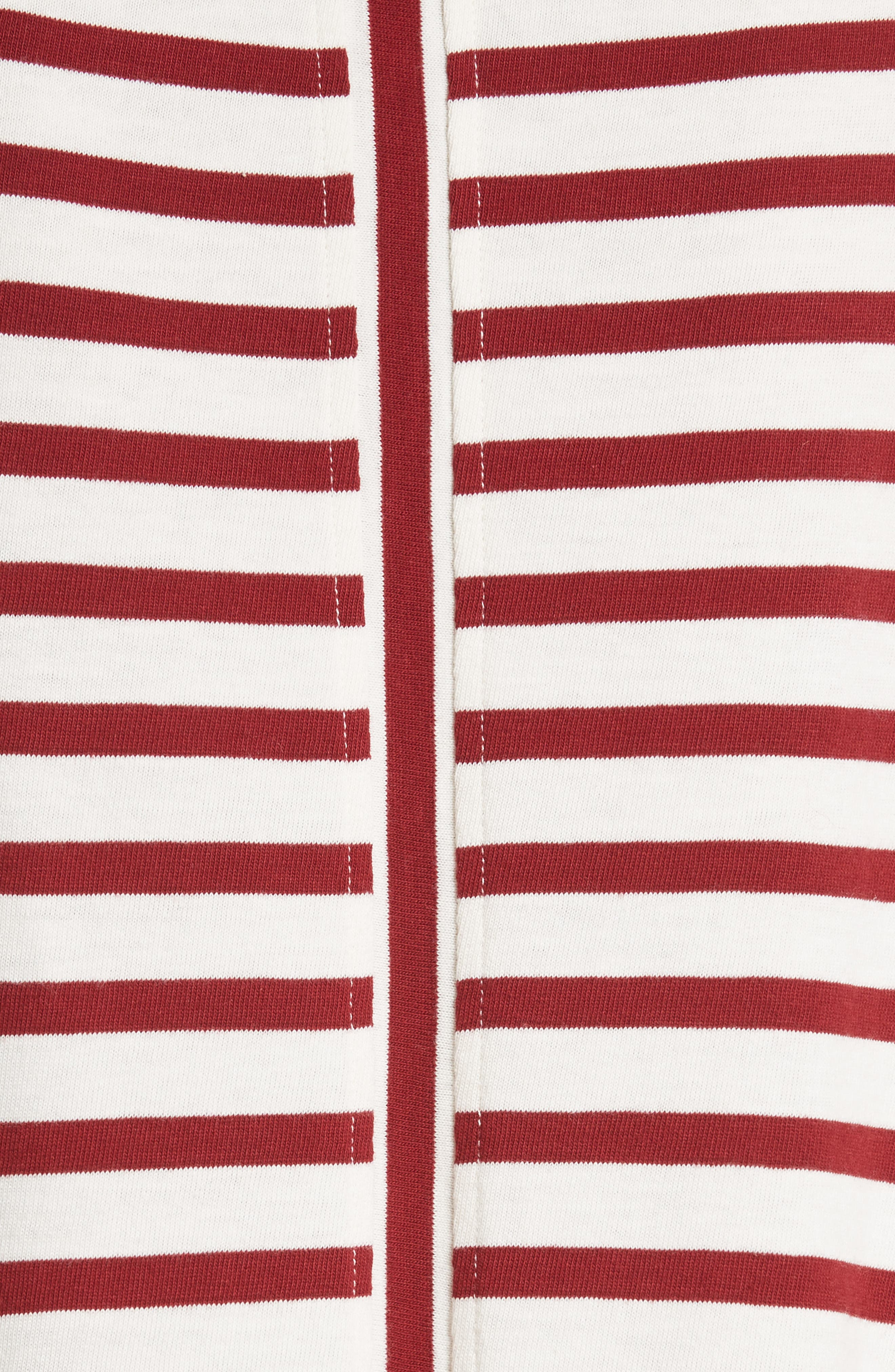 Lincoln Mariner Top,                             Alternate thumbnail 5, color,                             Ecru/ Red