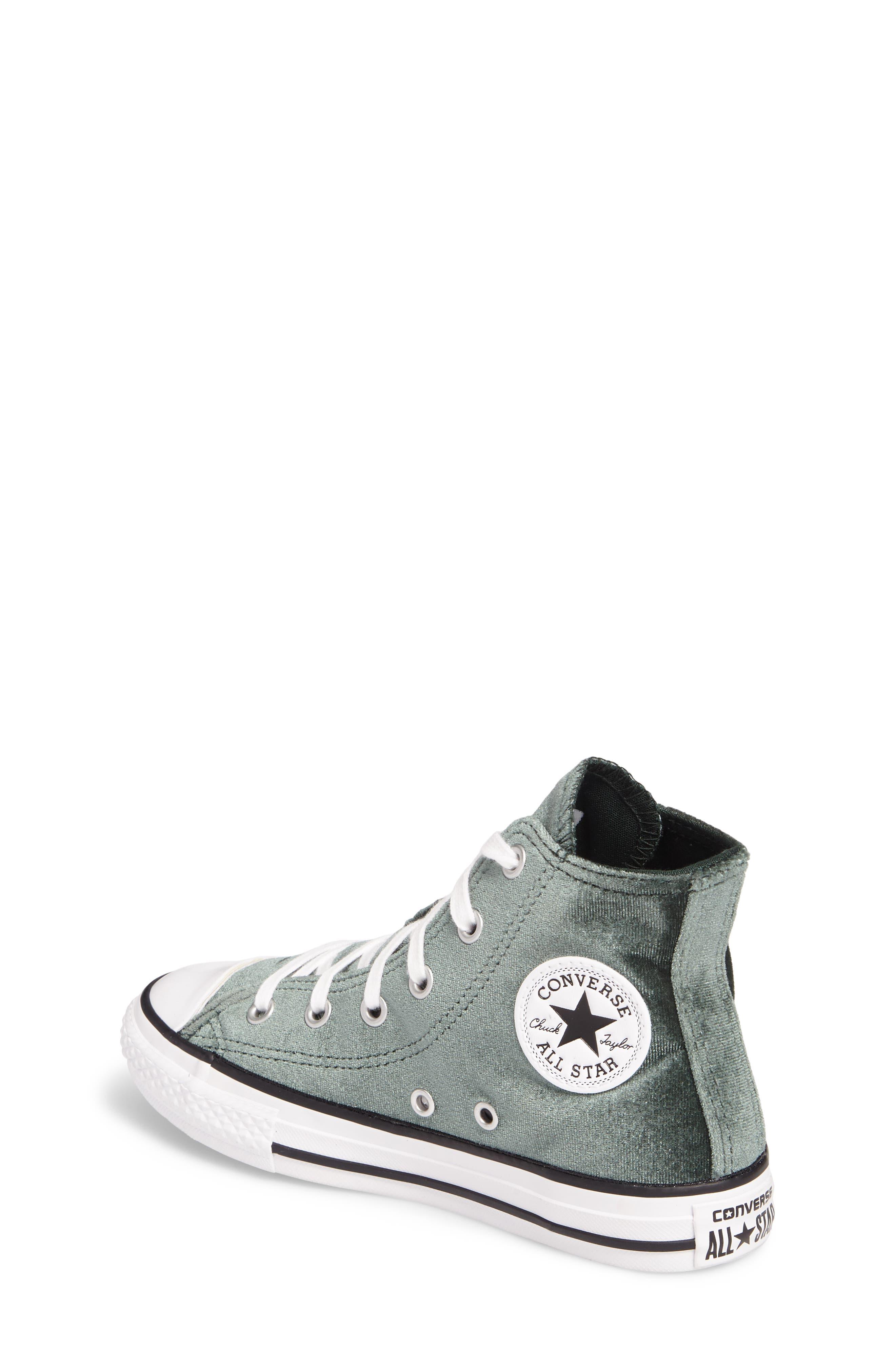 Alternate Image 2  - Converse Chuck Taylor® All Star® Velvet High Top Sneaker (Toddler, Little Kid & Big Kid)