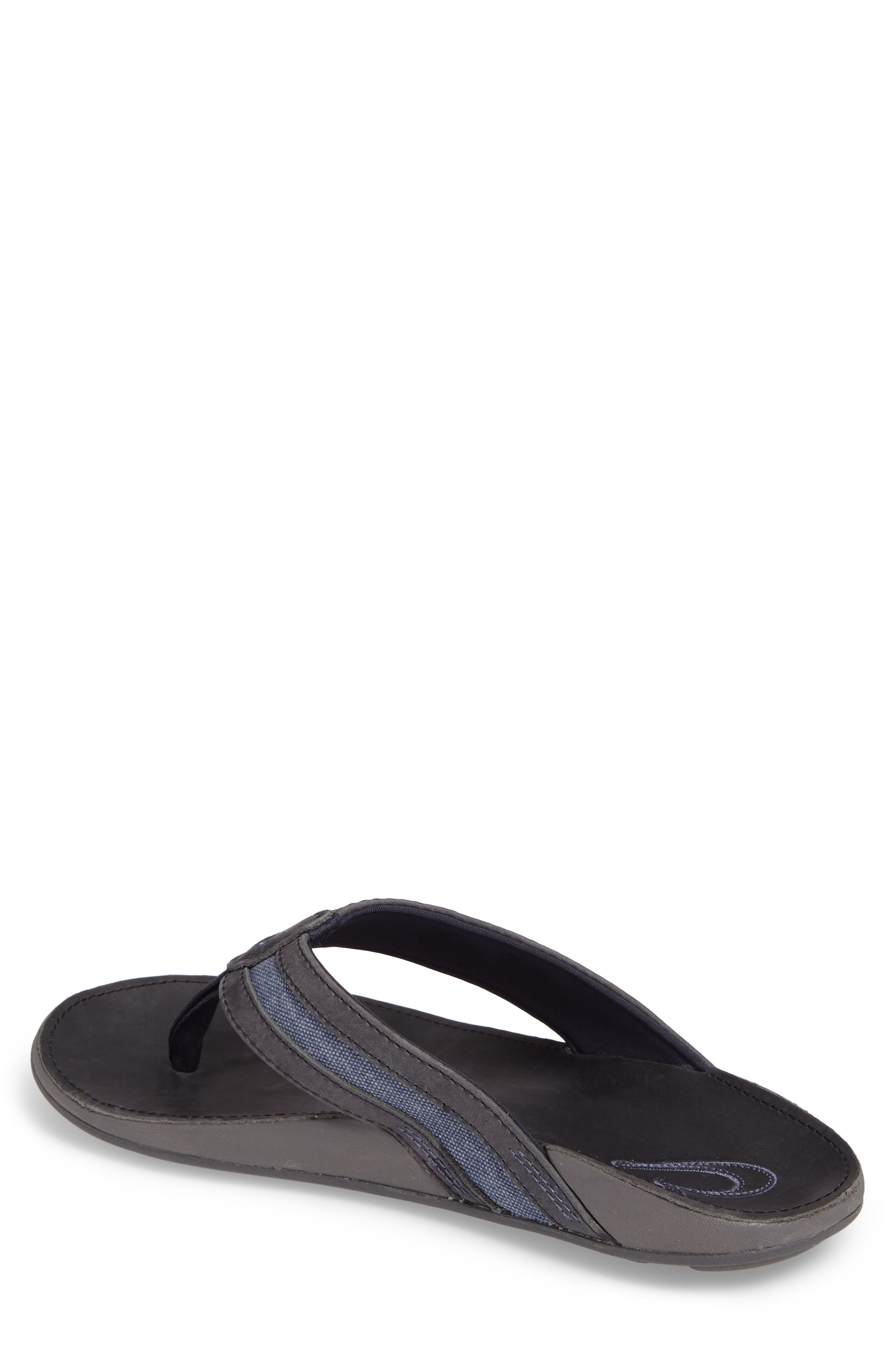 Ikoi Flip Flop,                             Alternate thumbnail 2, color,                             Trench Blue Leather