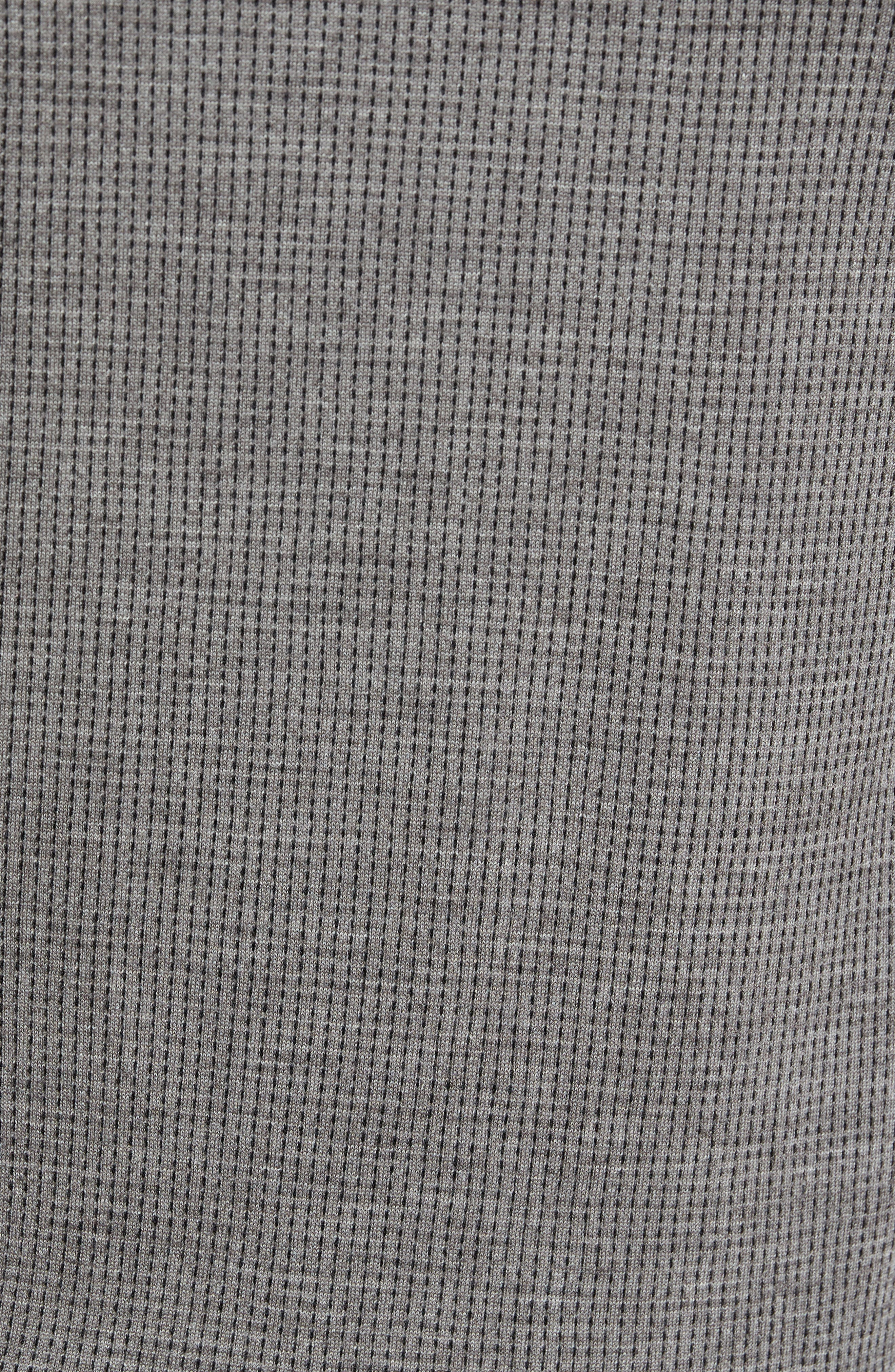 Grey Needlepoint Wool & Silk Polo Sweater,                             Alternate thumbnail 5, color,                             Grey