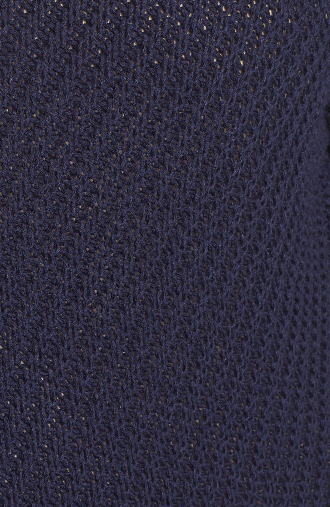 Cuffed Bell Sleeve Sweater,                             Alternate thumbnail 5, color,                             Navy Peacoat