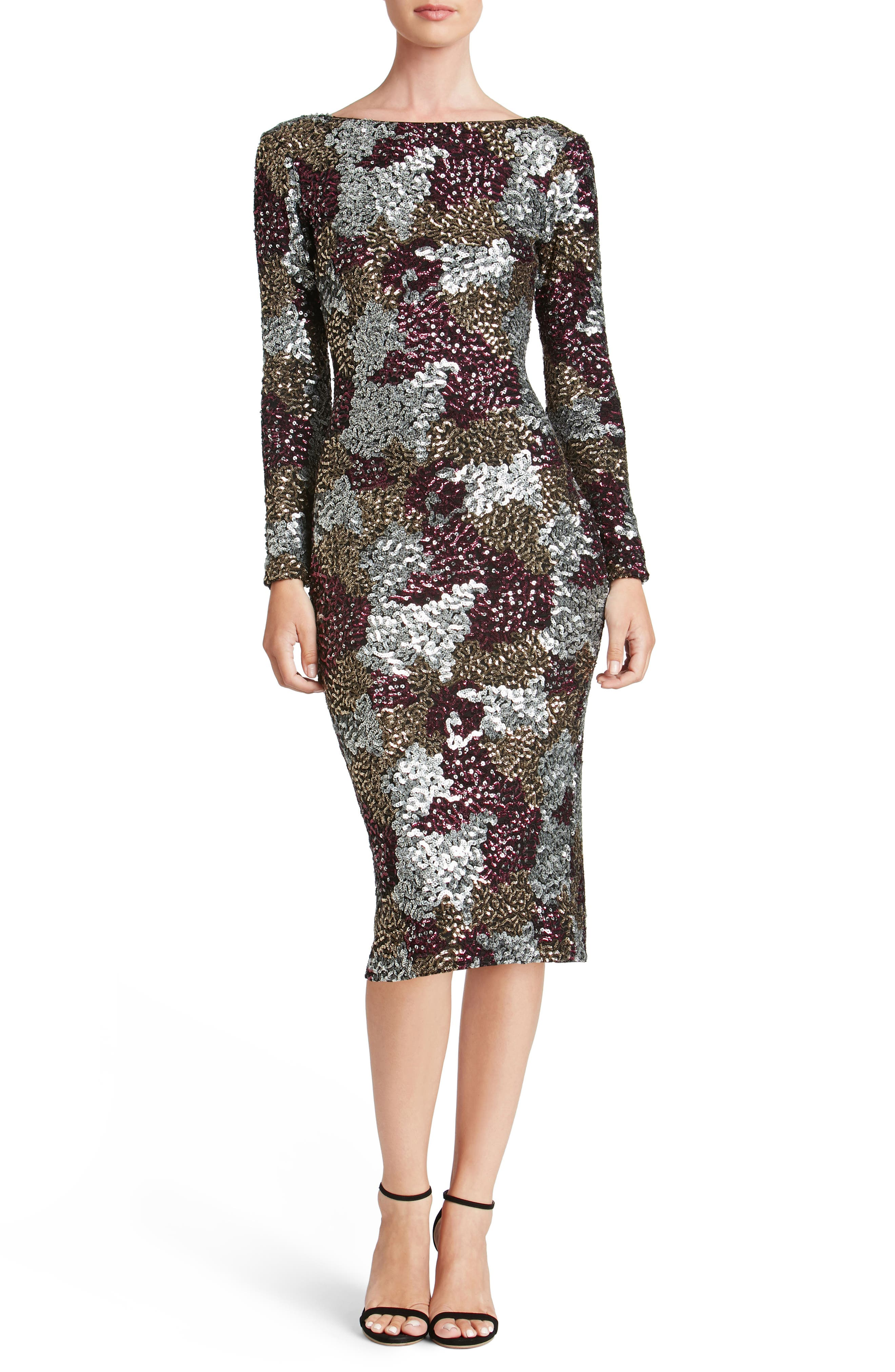 Main Image - Dress the Population Brenna Scoop Back Dress
