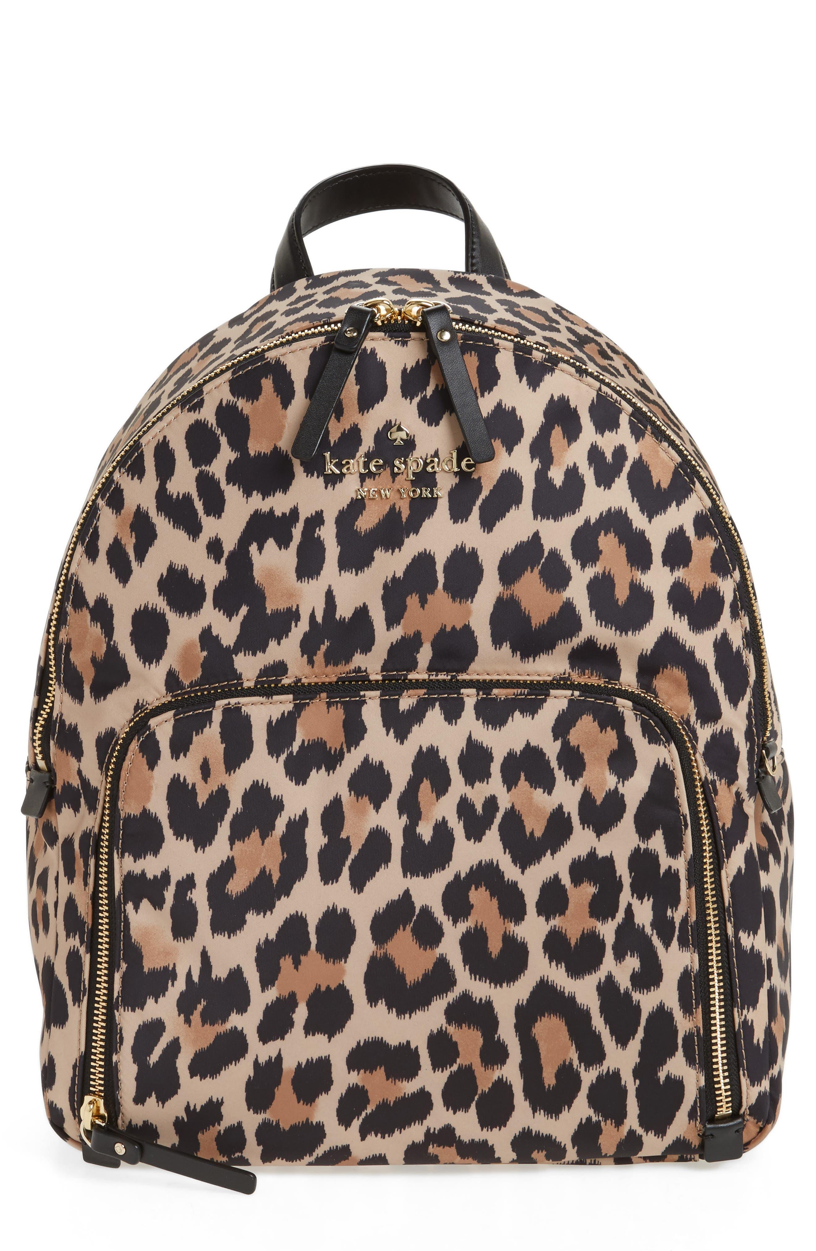 kate spade new york watson lane - hartley leopard print backpack