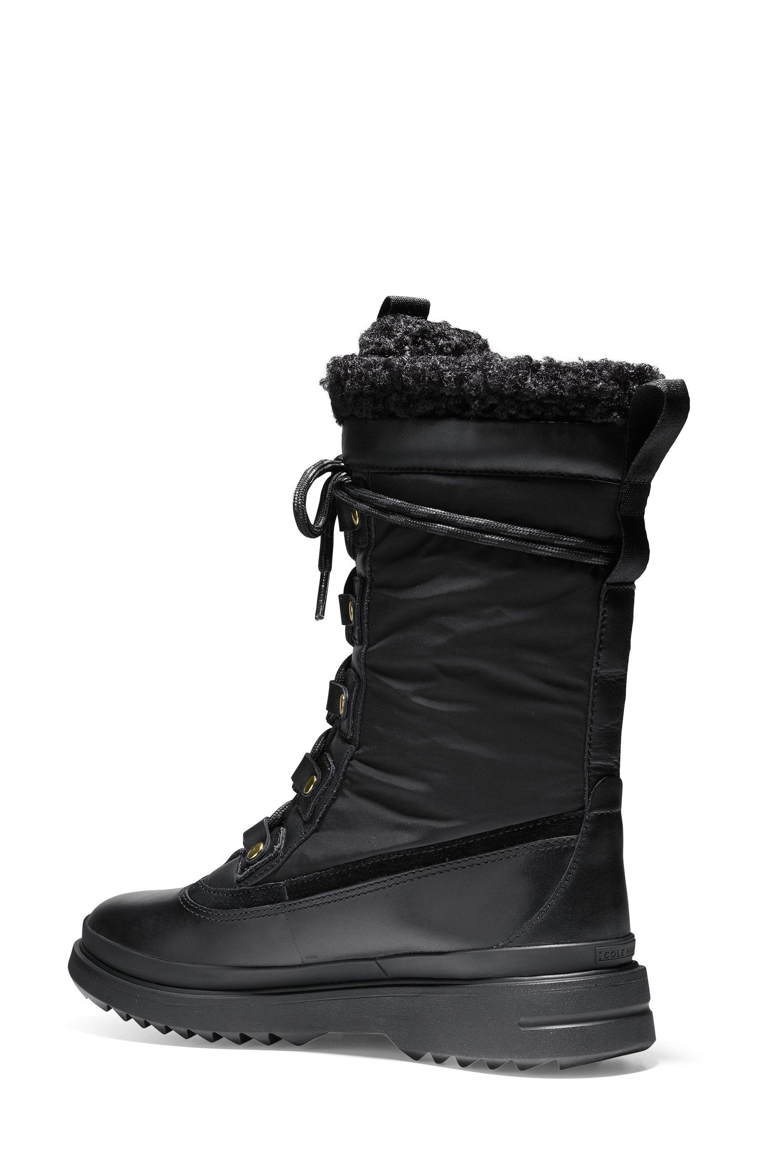Millbridge Waterproof Boot,                             Alternate thumbnail 2, color,                             Black Leather
