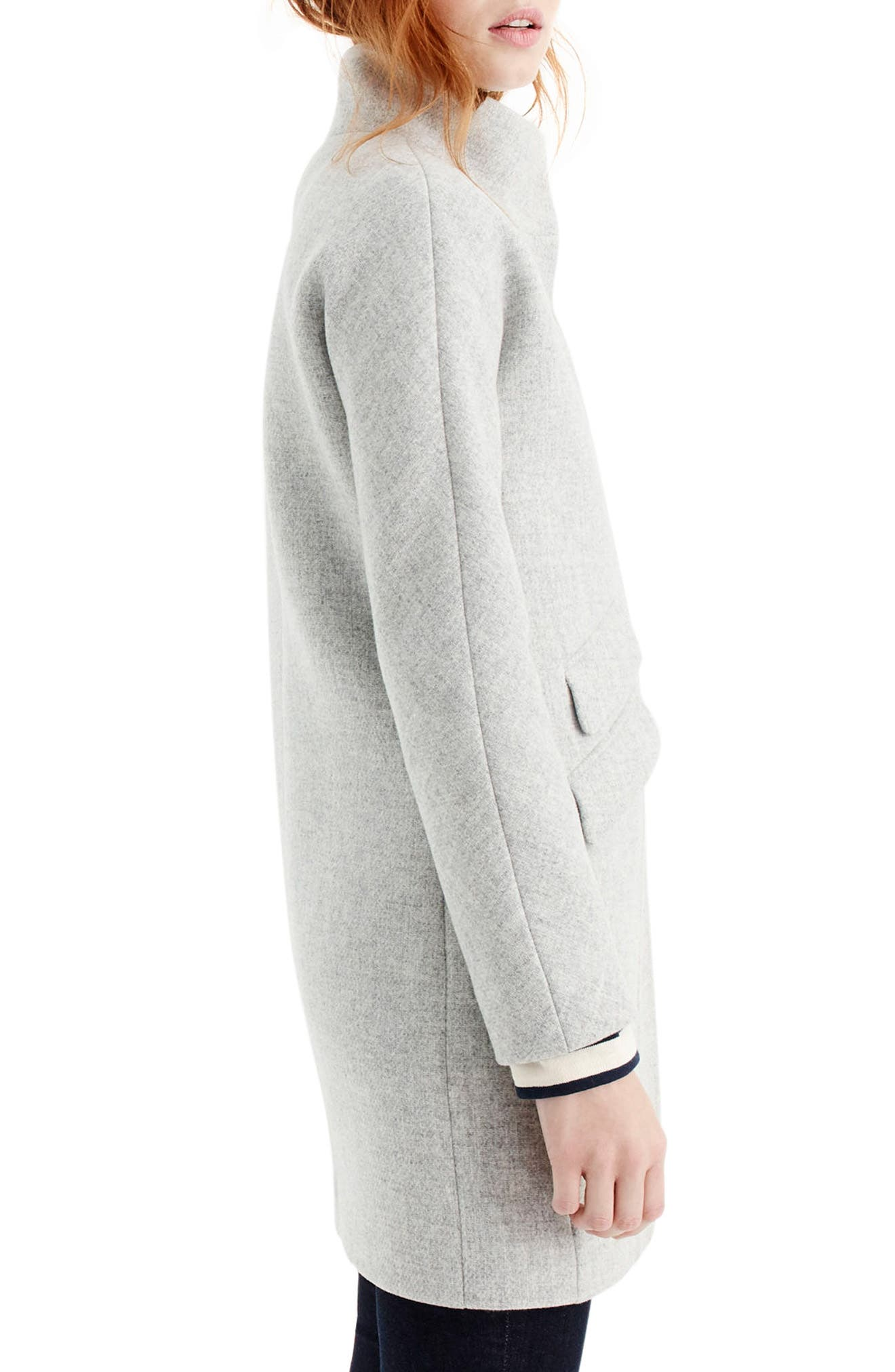 Alternate Image 2  - J.Crew Stadium Cloth Cocoon Coat (Regular & Petite)