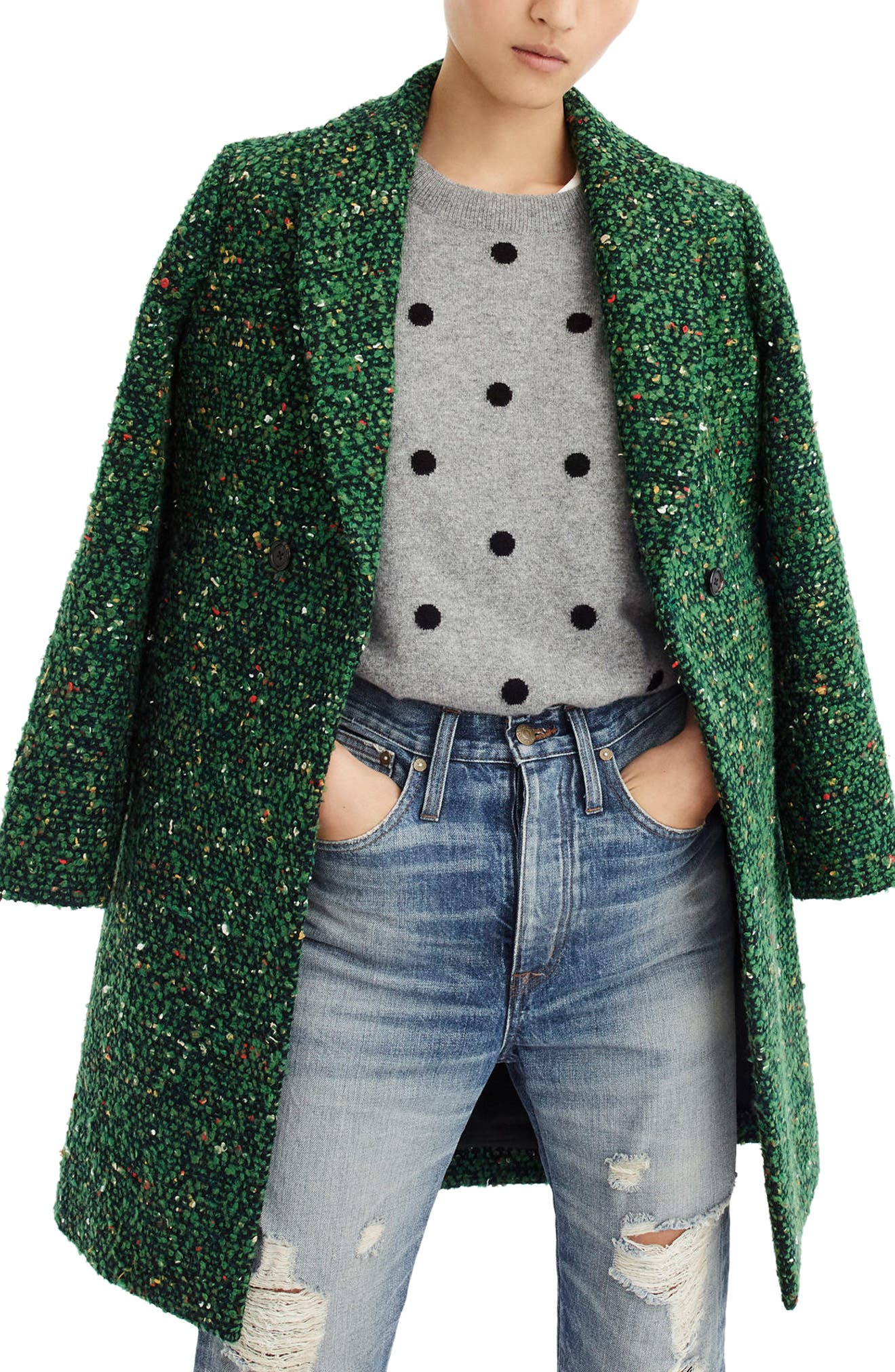 J.Crew Daphne Tweed Topcoat (Regular & Petite)