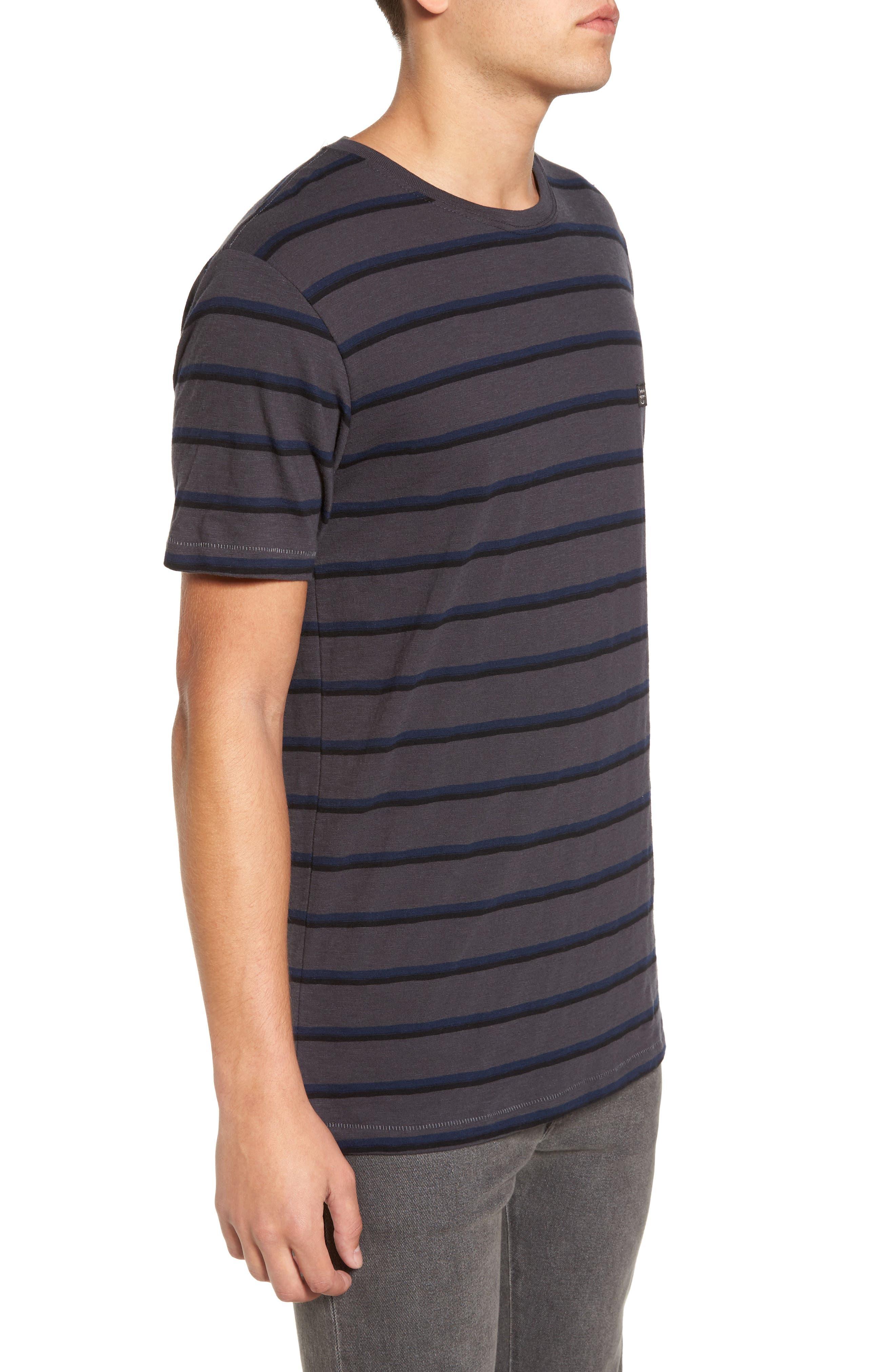 B. Thankful Striped T-Shirt,                             Alternate thumbnail 3, color,                             Black Stripe