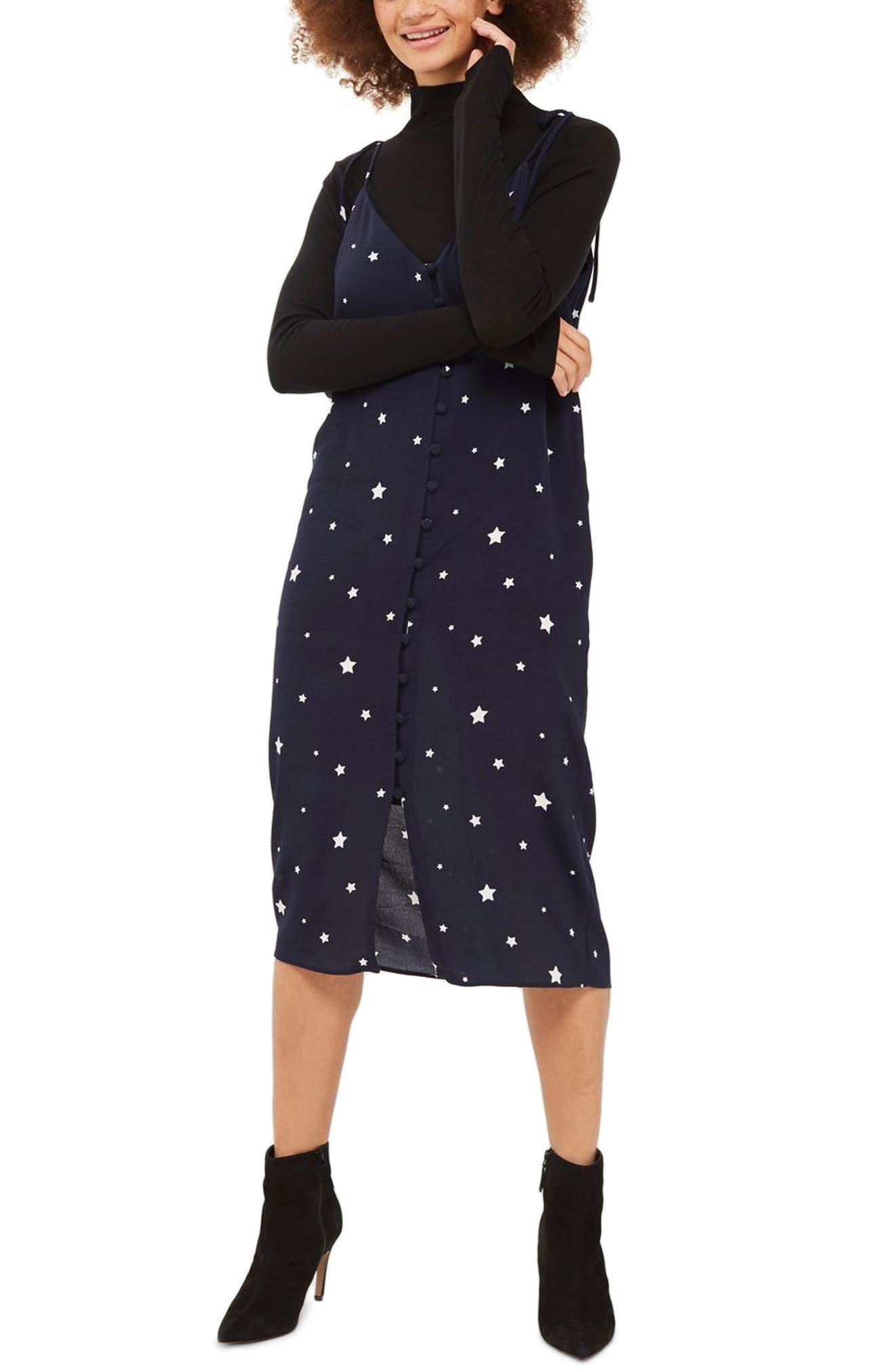 Topshop Star Print Slipdress
