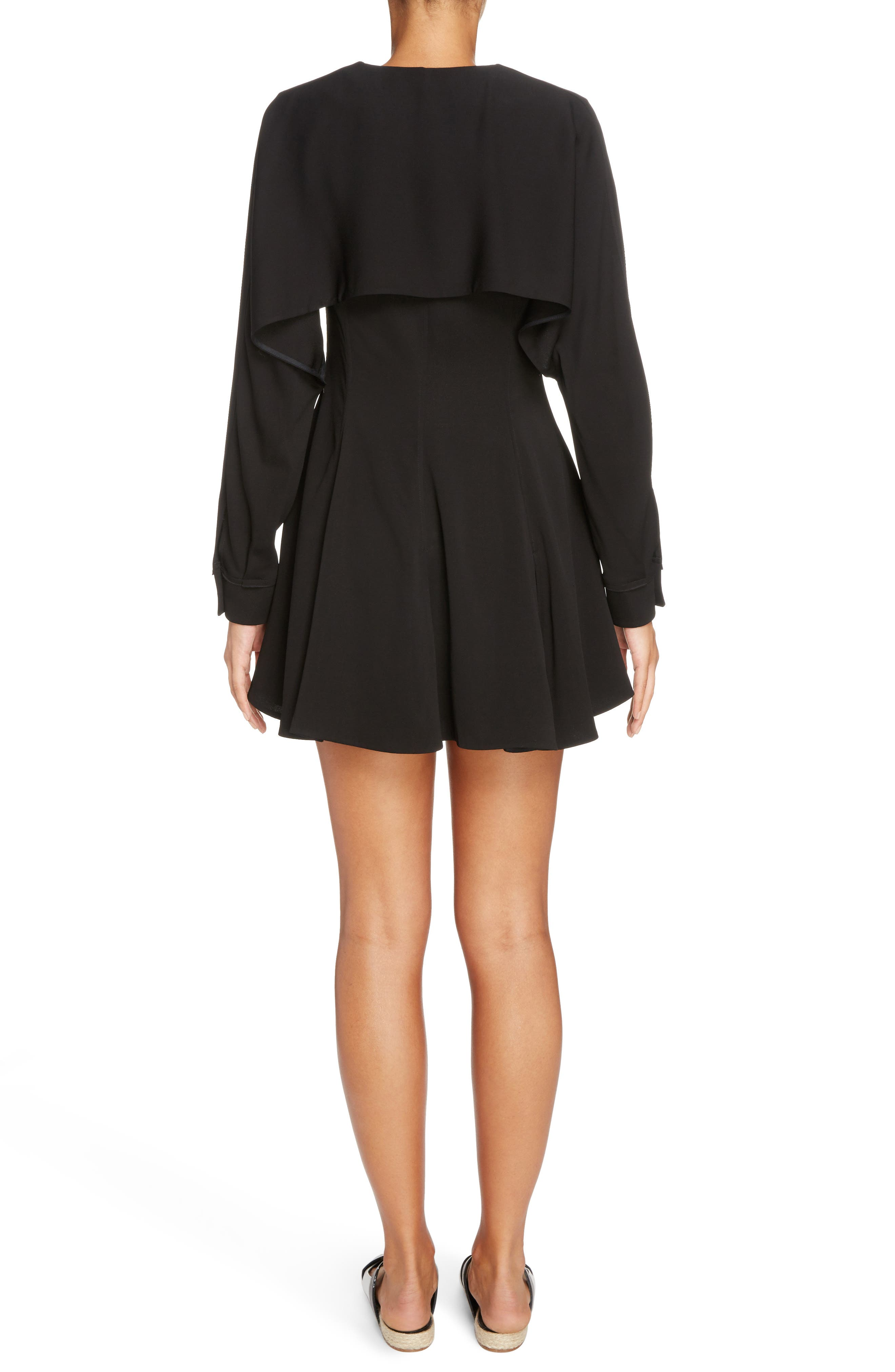 J.W.ANDERSON Double Breasted Skater Dress,                             Alternate thumbnail 2, color,                             Black