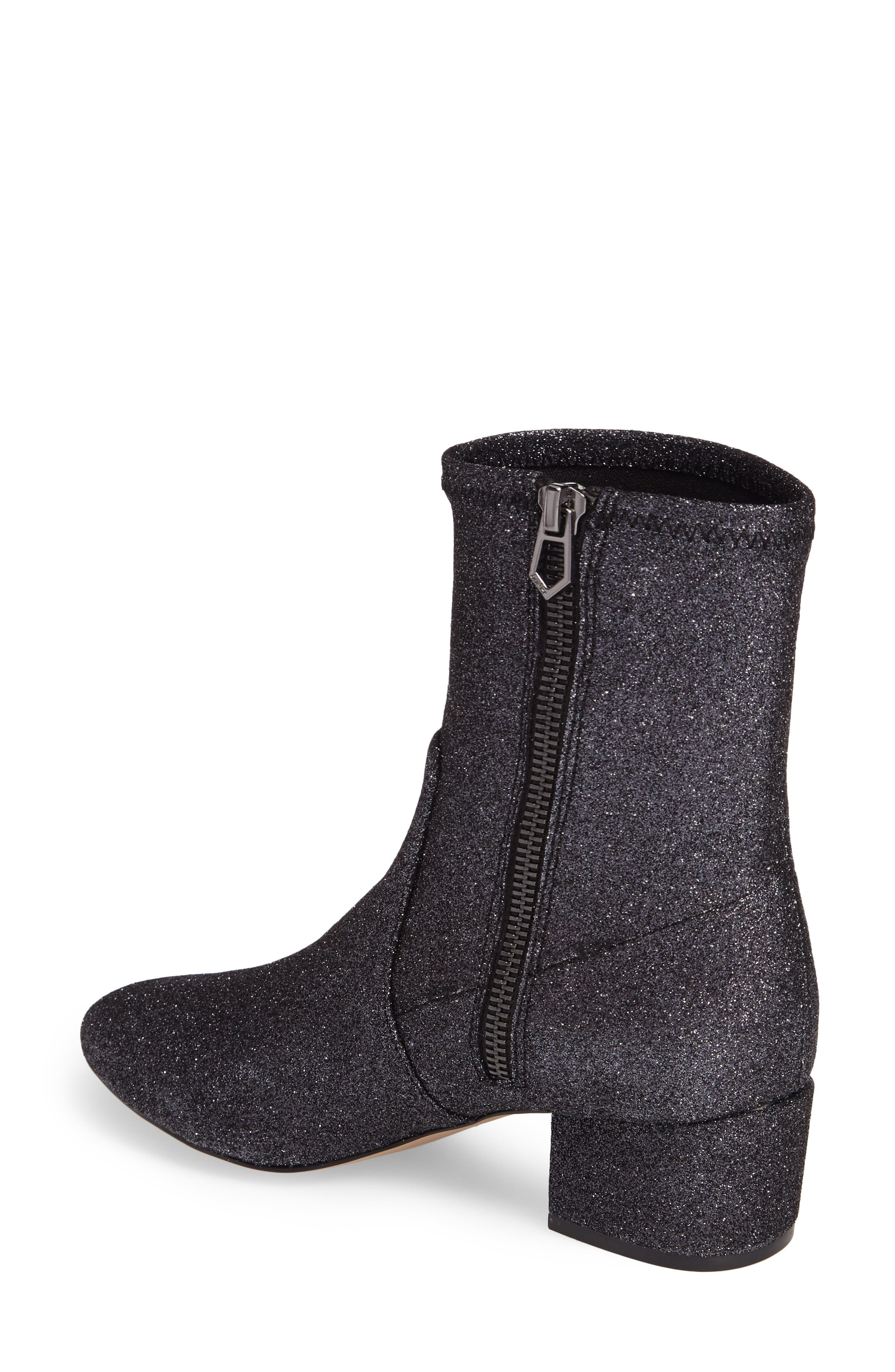 Gemma Bootie,                             Alternate thumbnail 2, color,                             Gunmetal Glitter