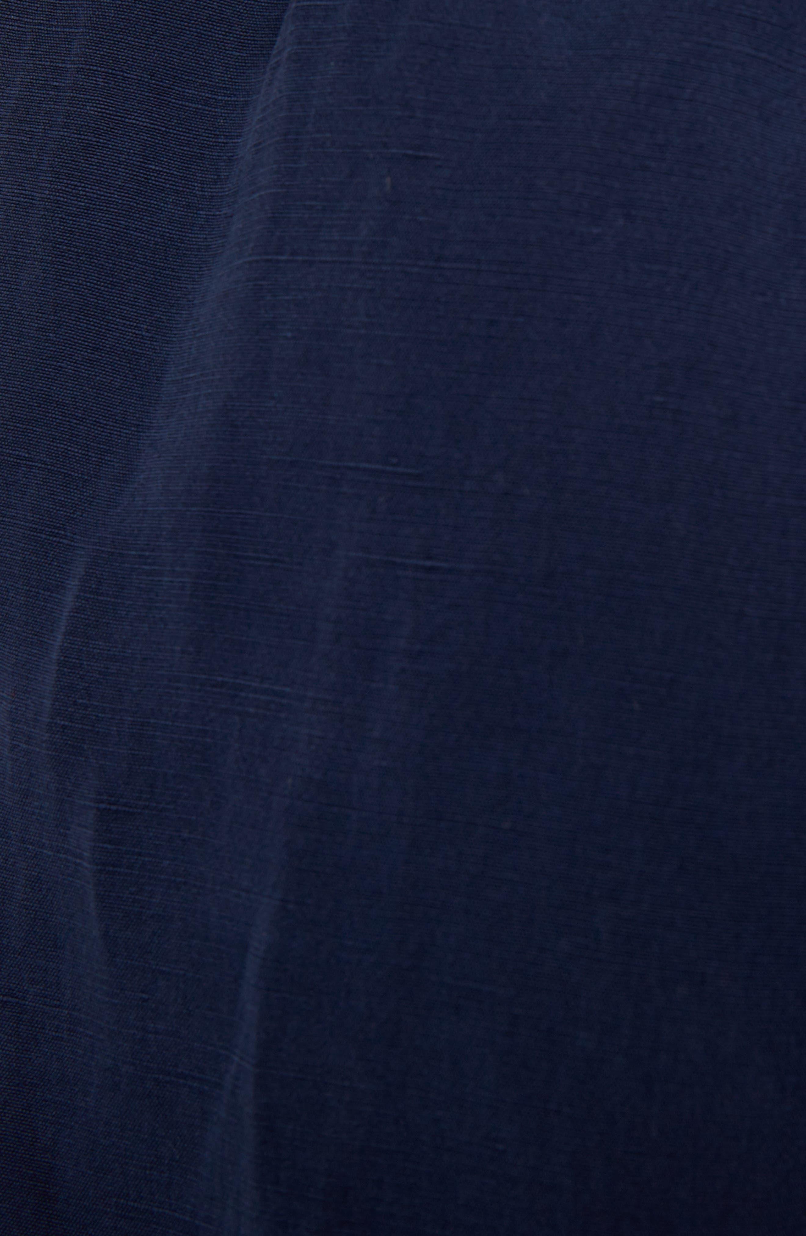 Leather Pocket Linen & Silk Boxer Shorts,                             Alternate thumbnail 8, color,                             Navy