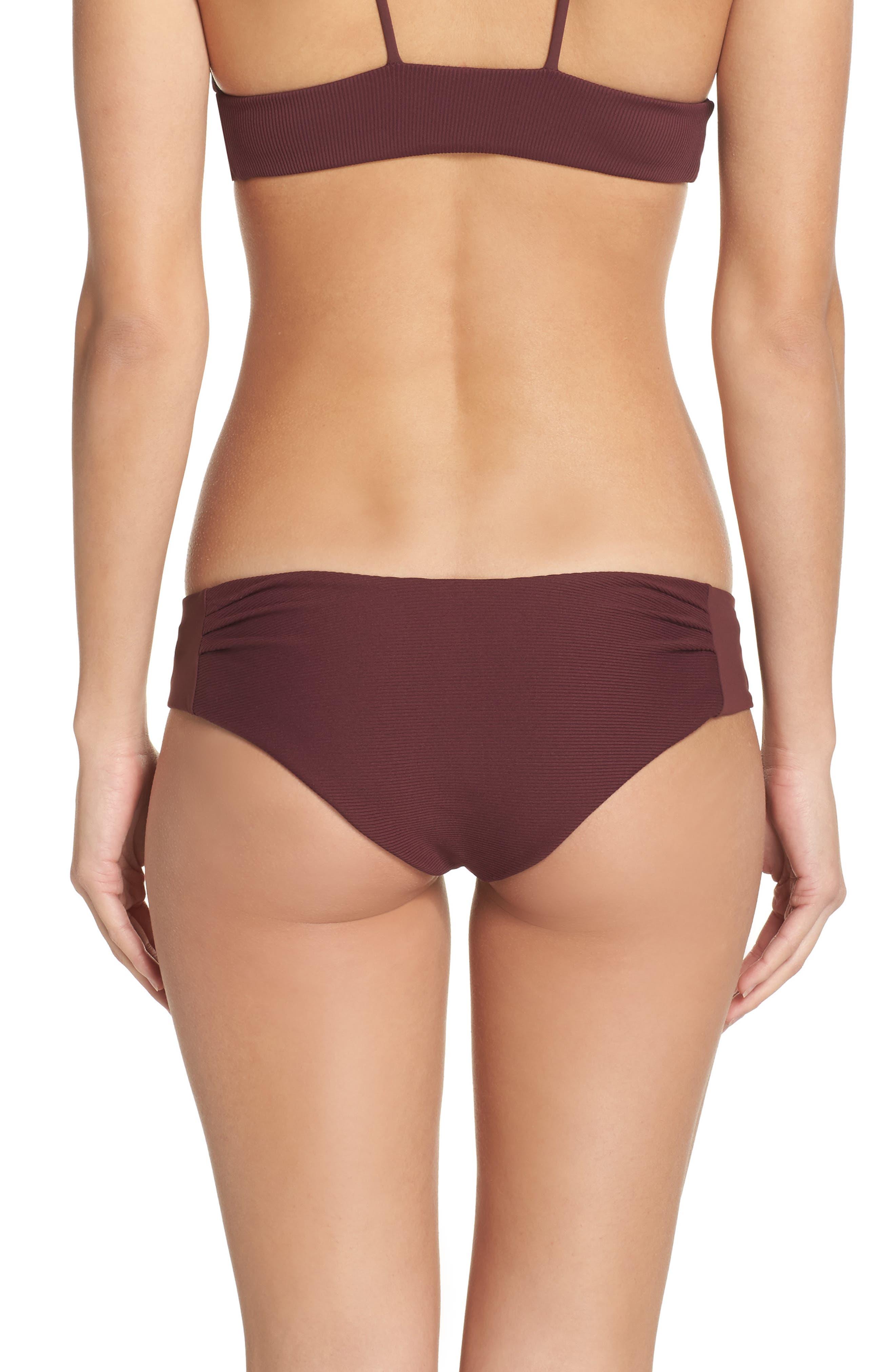 Yaya the Yuppy Bikini Bottoms,                             Alternate thumbnail 2, color,                             Burgundy