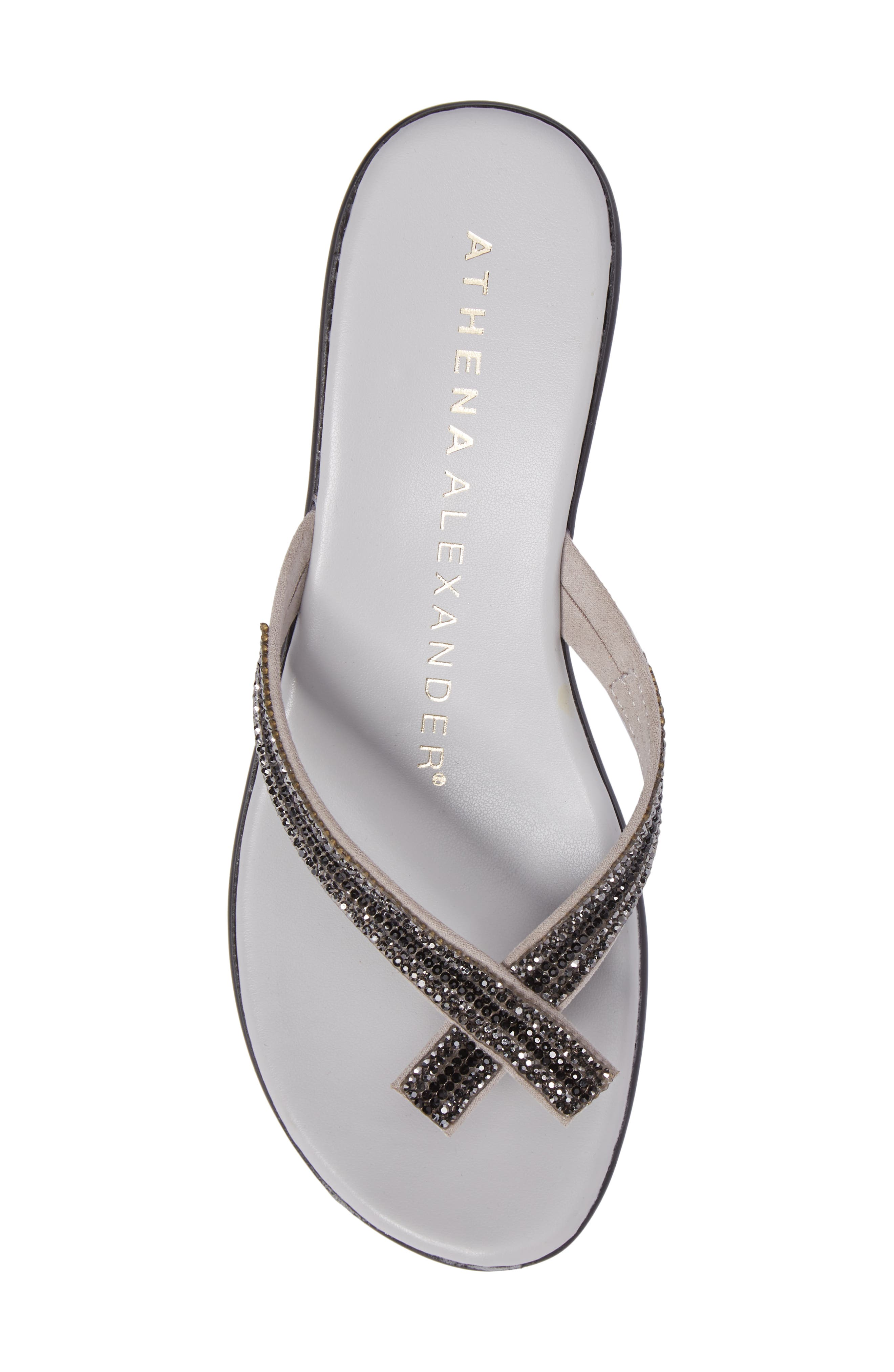 Sienna Wedge Sandal,                             Alternate thumbnail 5, color,                             Grey Synthetic