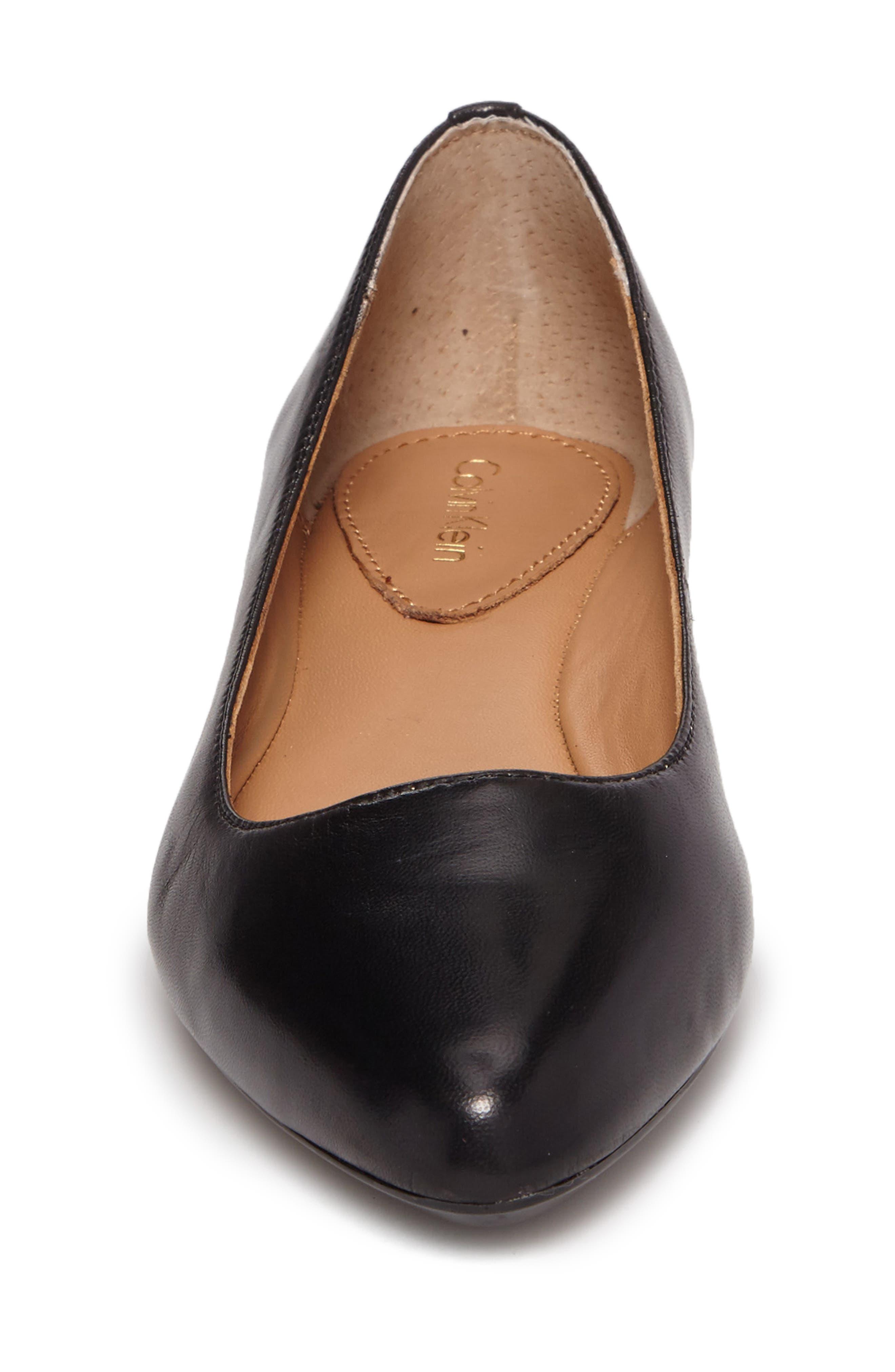 Gredel Flat,                             Alternate thumbnail 4, color,                             Black Leather