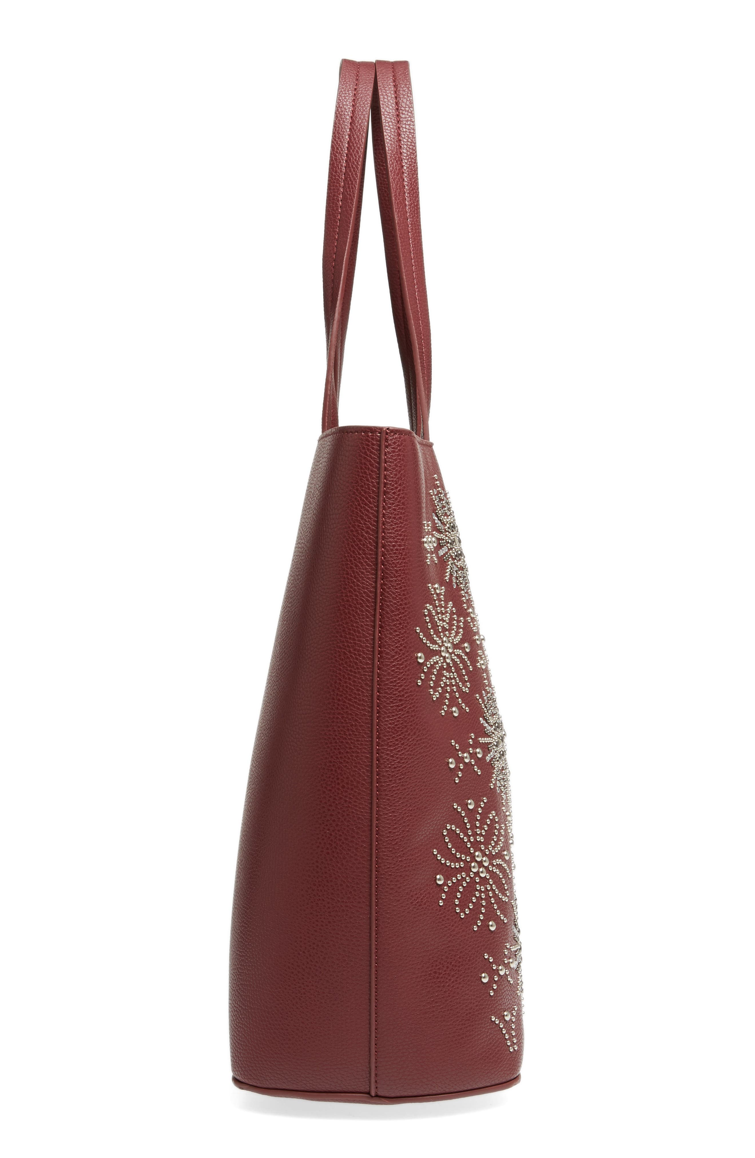 Alternate Image 5  - Chelsea28 Starburst Faux Leather Tote & Zip Pouch