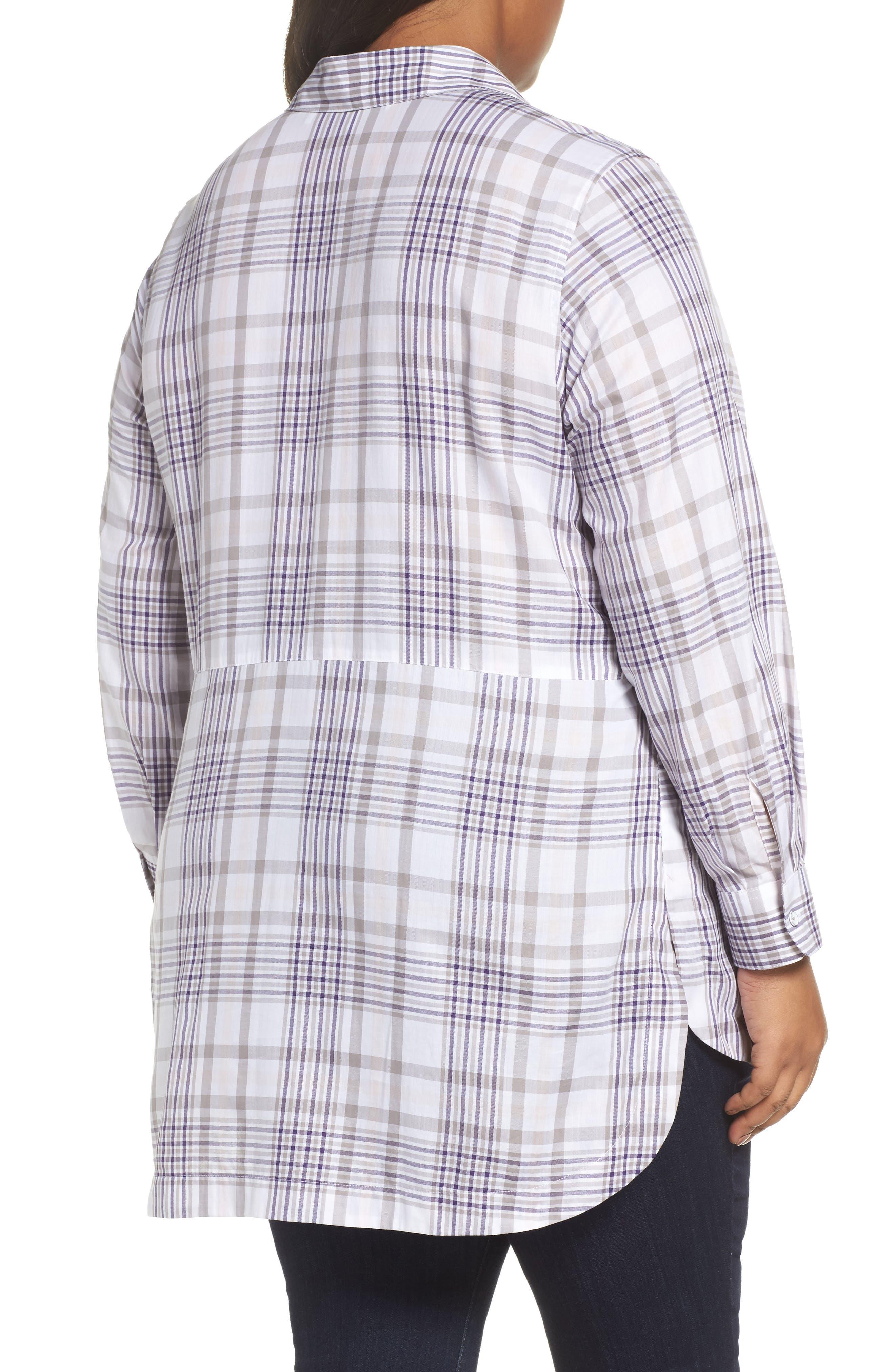 Alternate Image 2  - Foxcroft Maddy Winter Plaid Shirt (Plus Size)