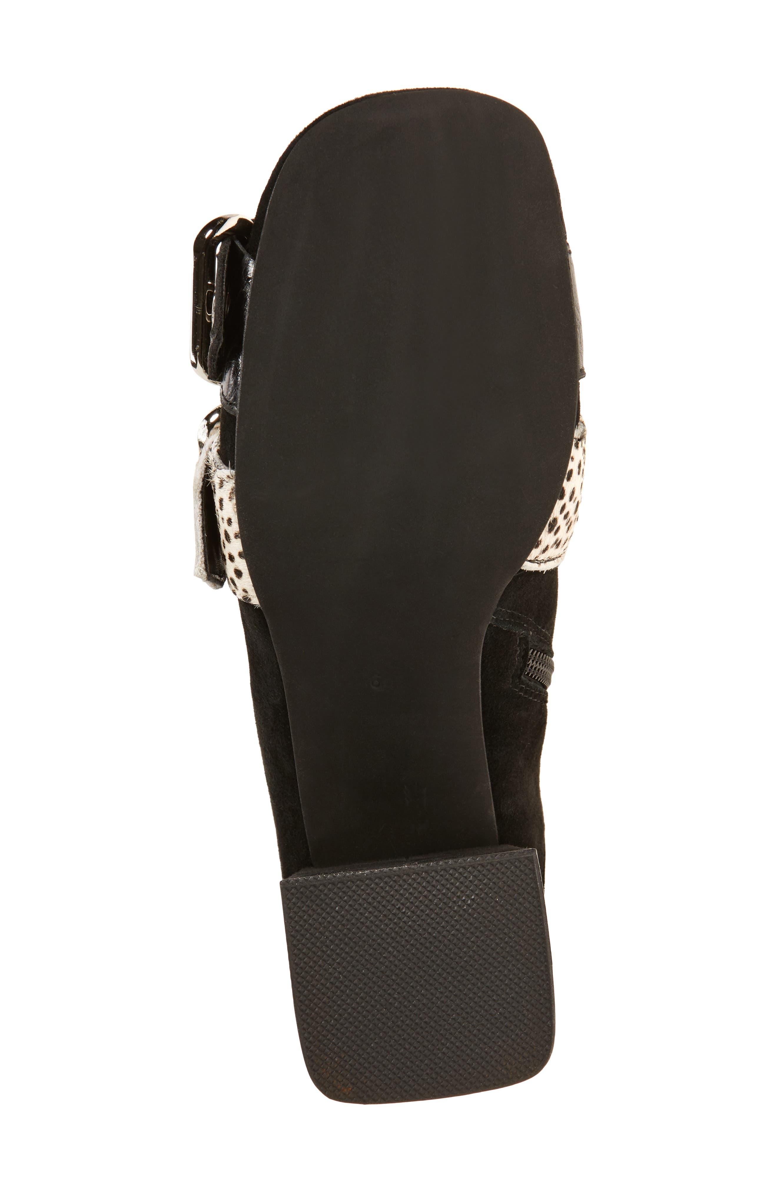 Peggy Genuine Calf Hair Boot,                             Alternate thumbnail 6, color,                             Black Suede Animal Multi