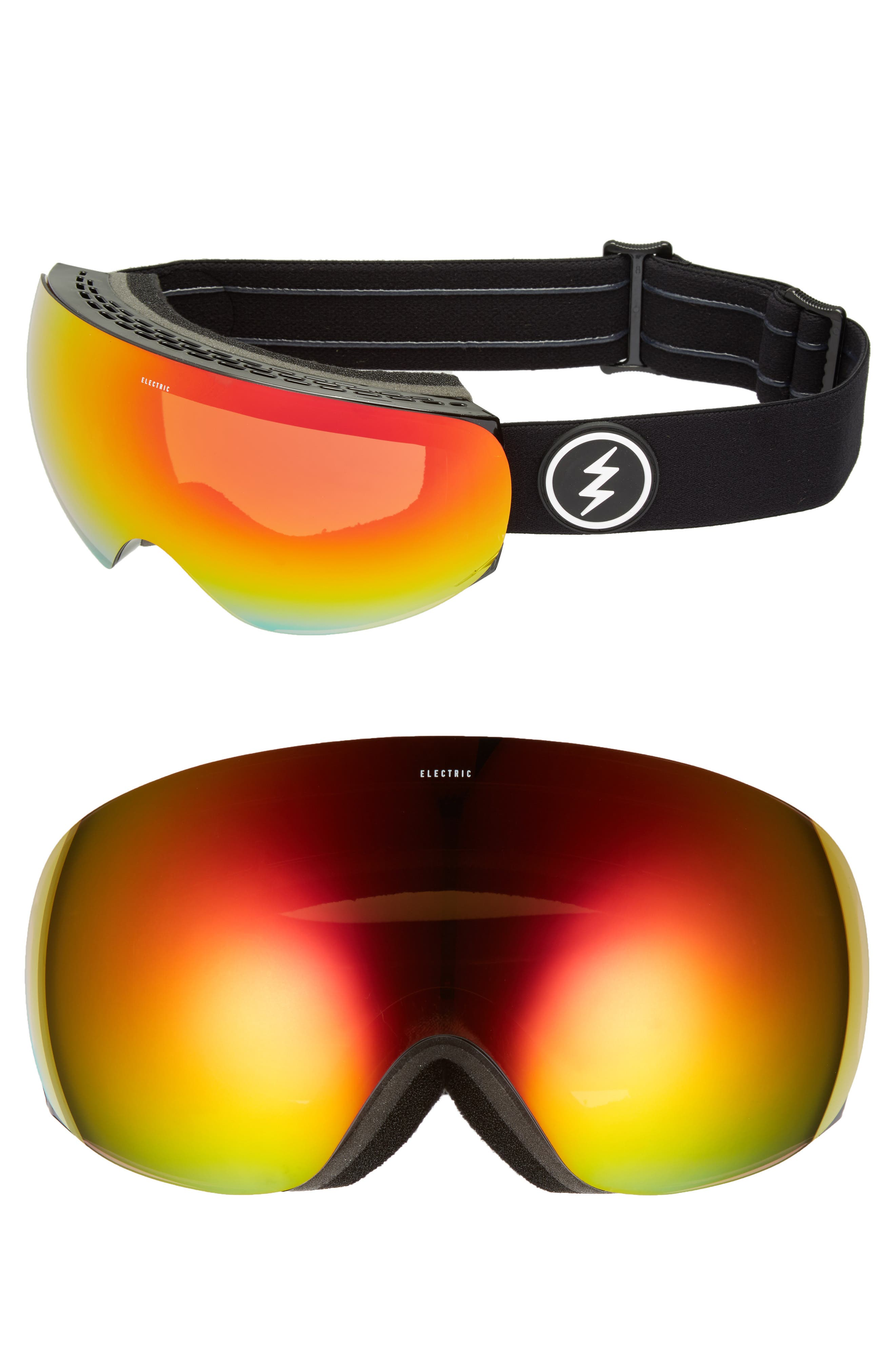 EG3.5 Snow Goggles,                             Main thumbnail 1, color,                             Gloss Black/ Red Chrome