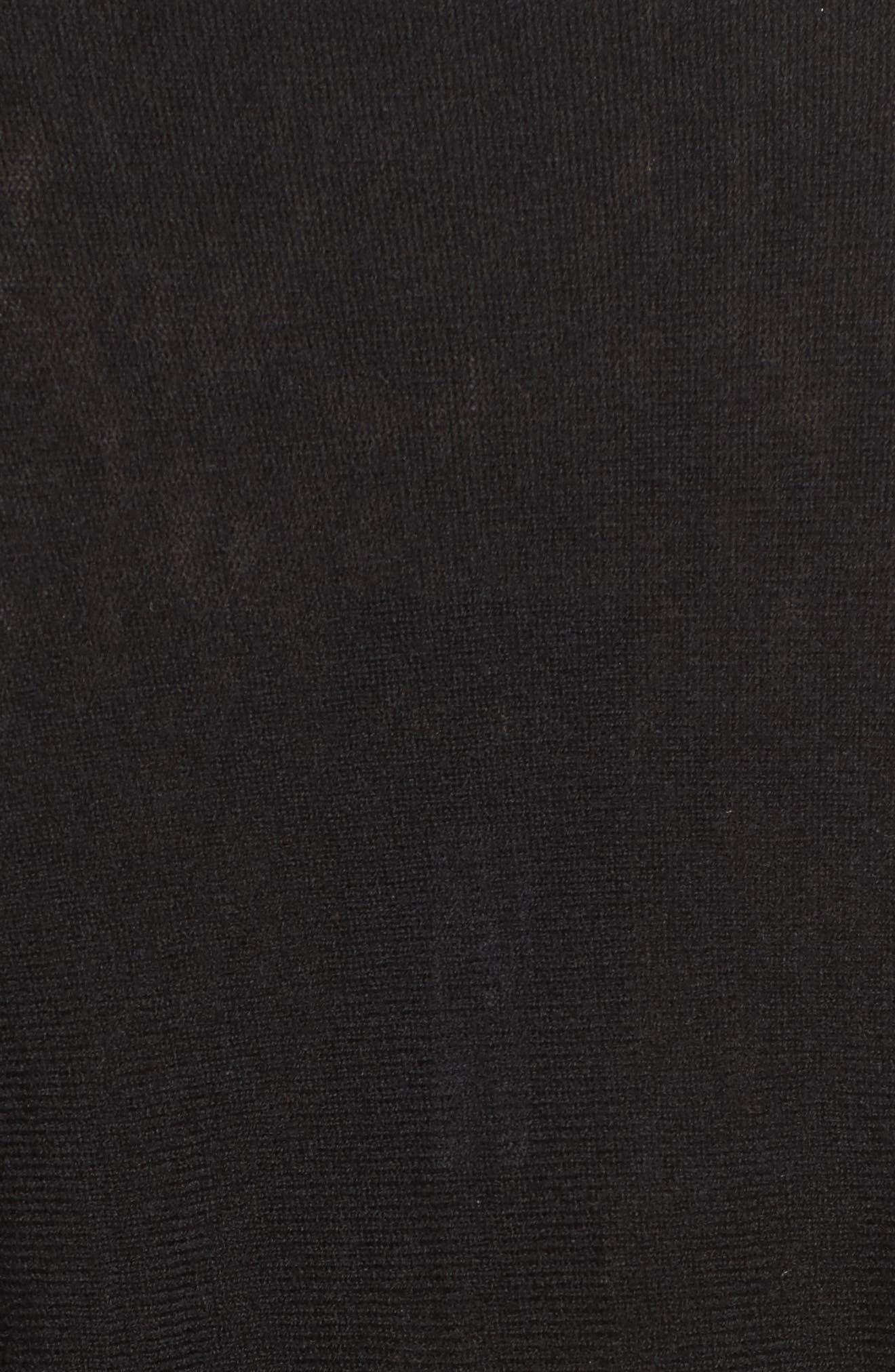 Victoire Turtleneck Sweater,                             Alternate thumbnail 5, color,                             Black