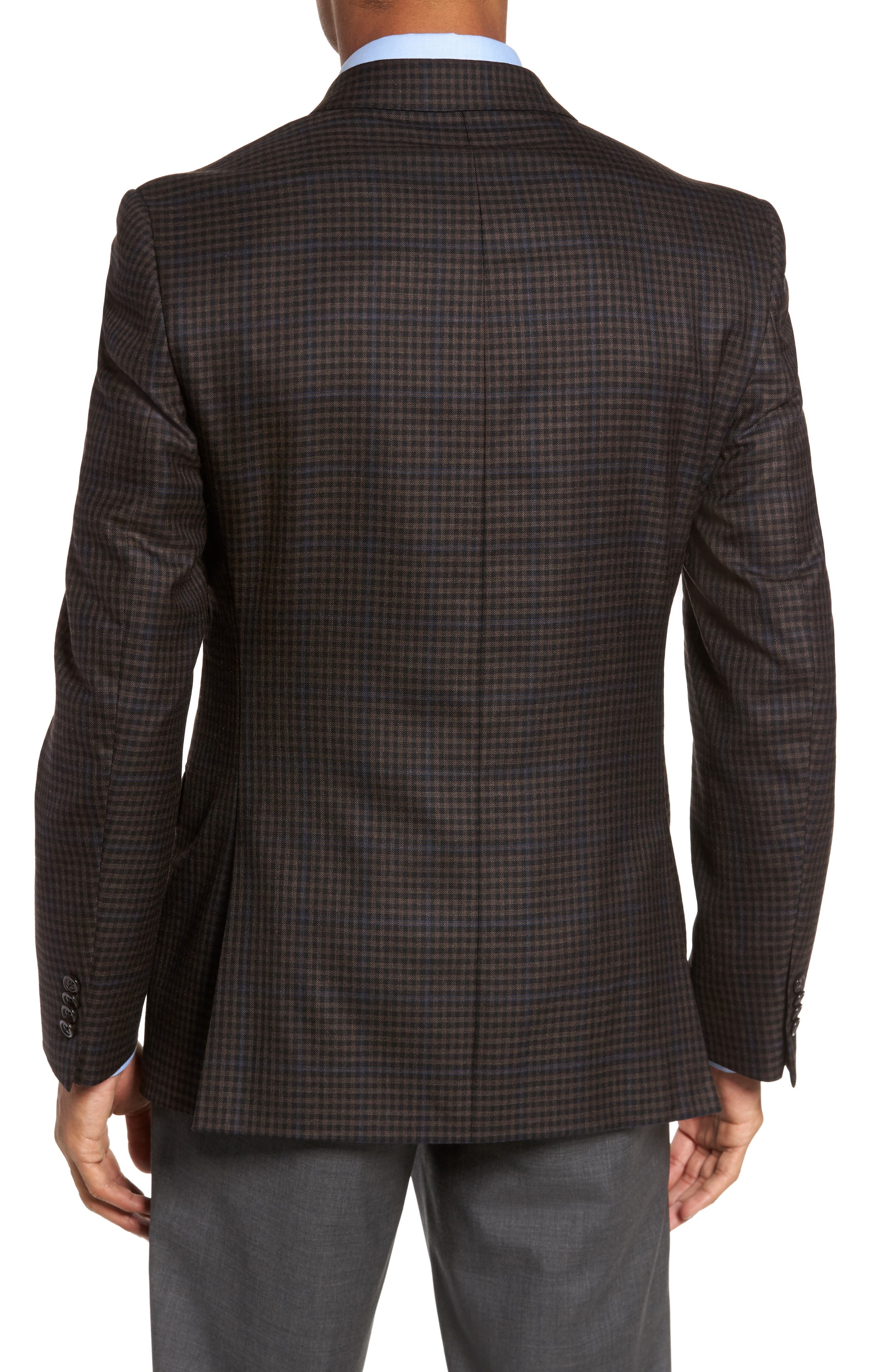 Classic Fit Plaid Wool Sport Coat,                             Alternate thumbnail 2, color,                             Brown