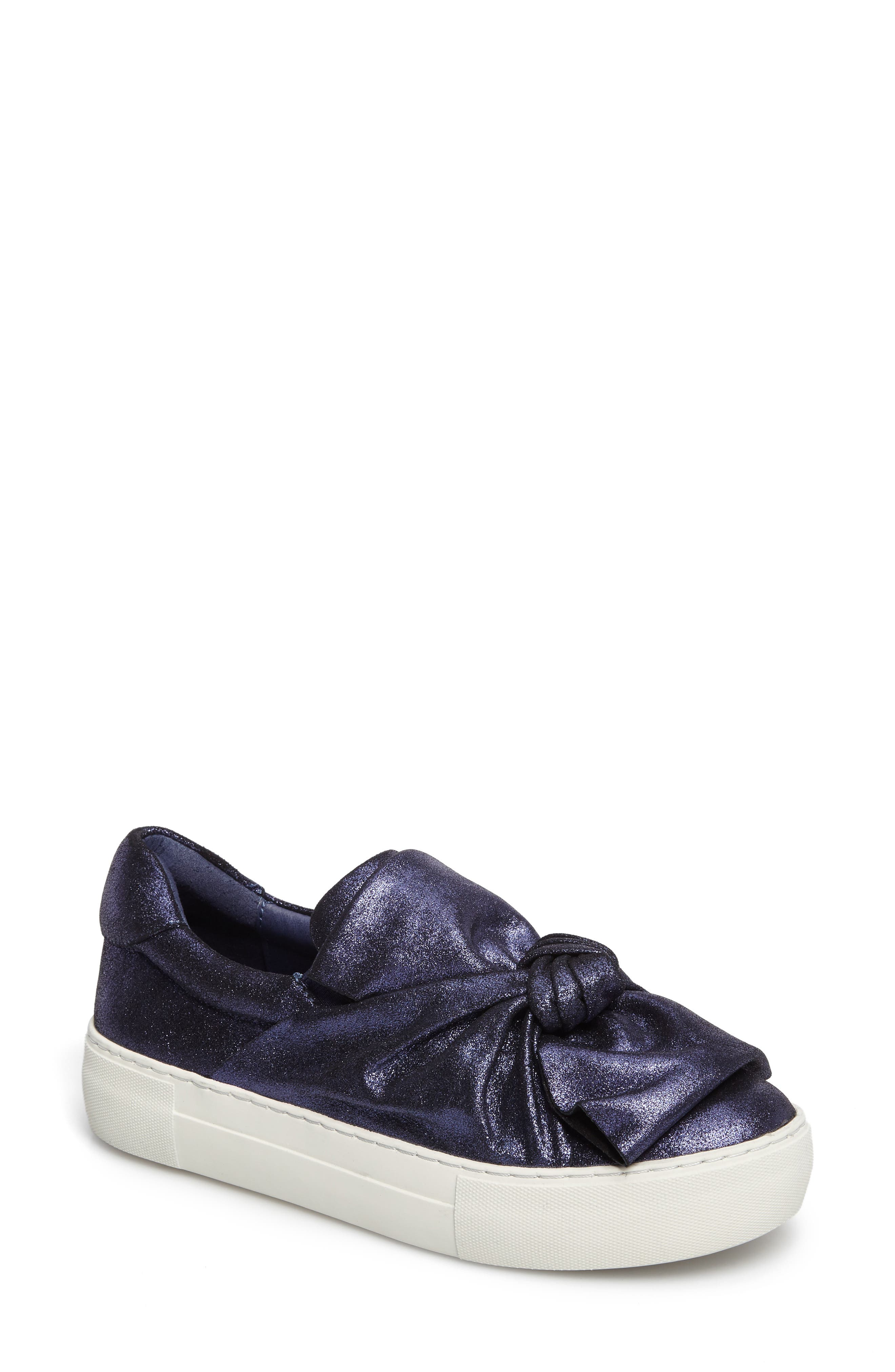 Audra Slip-On Sneaker,                             Main thumbnail 1, color,                             Navy Leather