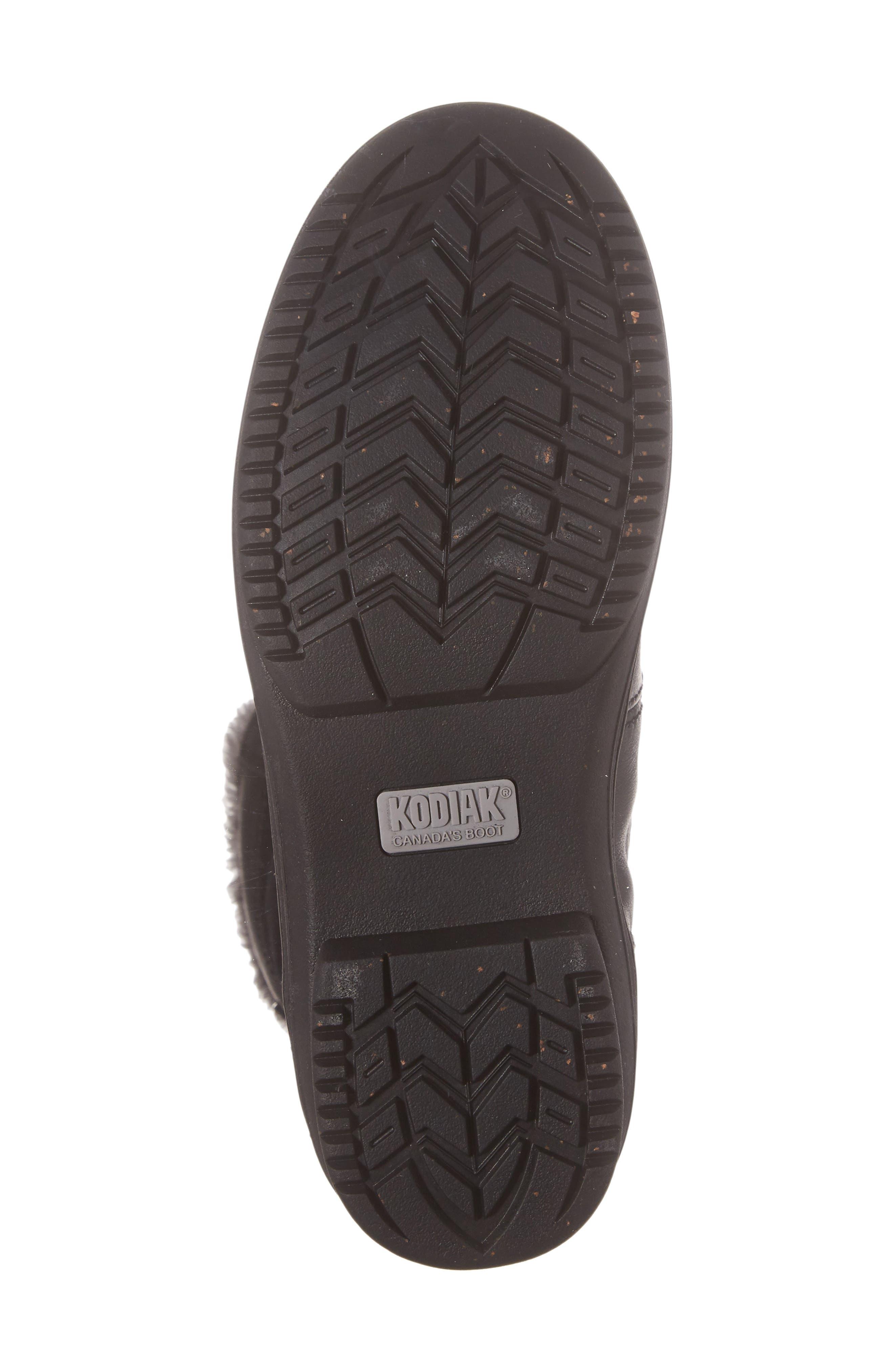 Glata Waterproof Boot,                             Alternate thumbnail 6, color,                             Black Leather