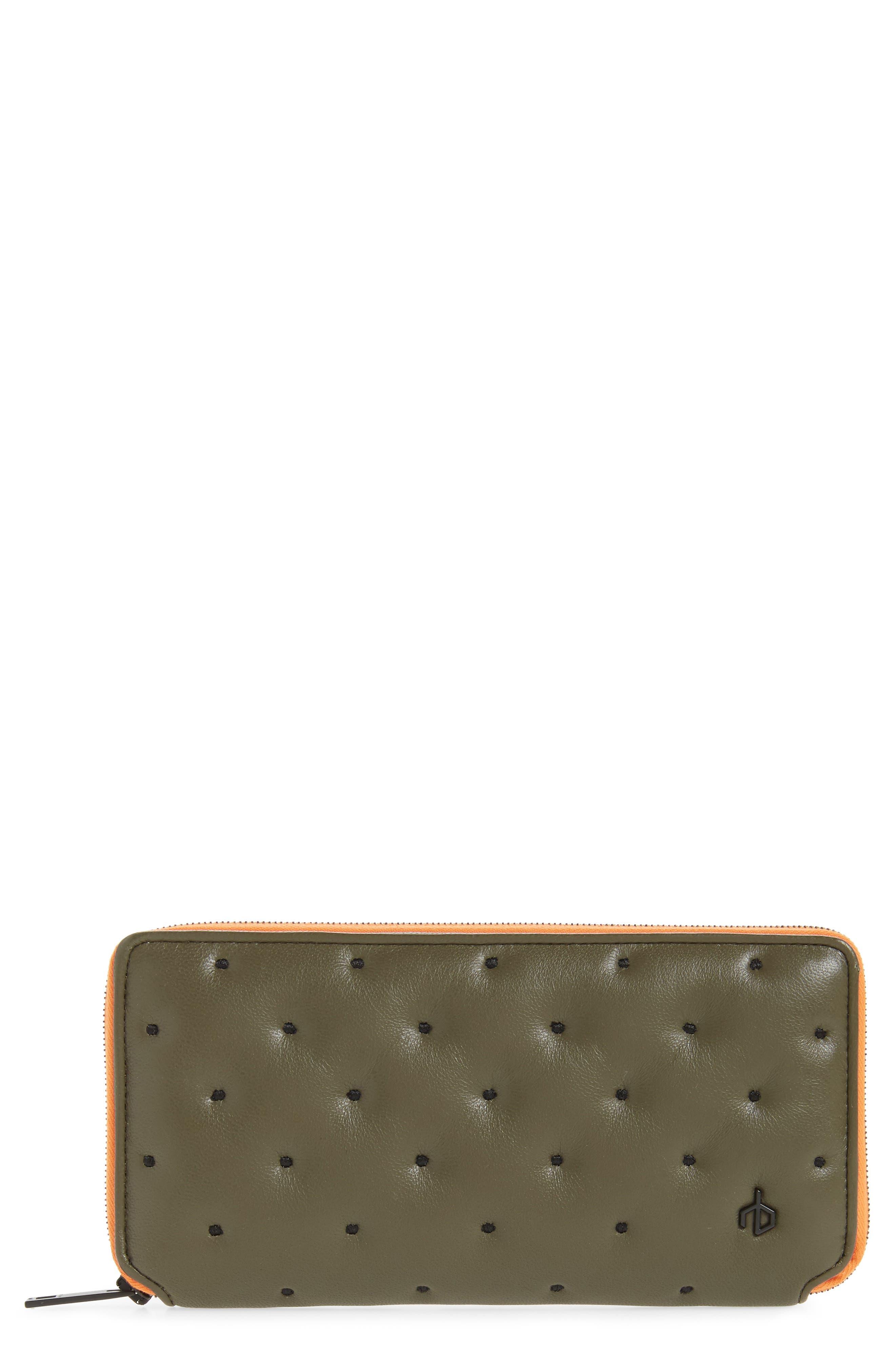 Main Image - rag & bone Dot Dash Quilted Leather Zip Around Wallet