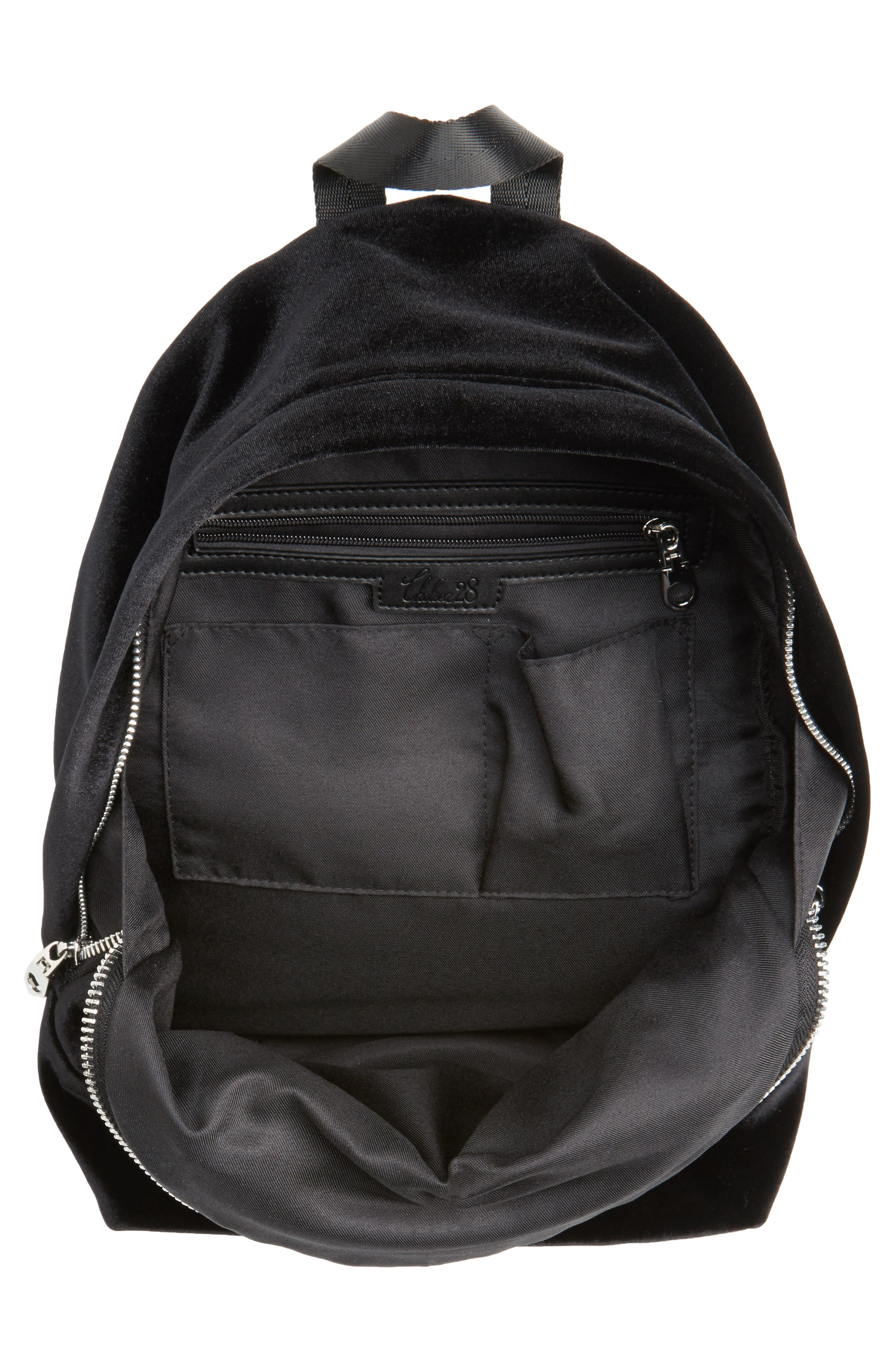 Velvet Backpack,                             Alternate thumbnail 4, color,                             Black