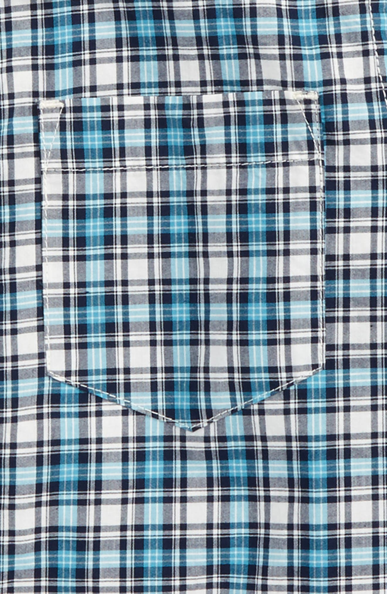 Heath Plaid Woven Shirt,                             Alternate thumbnail 2, color,                             Chalk