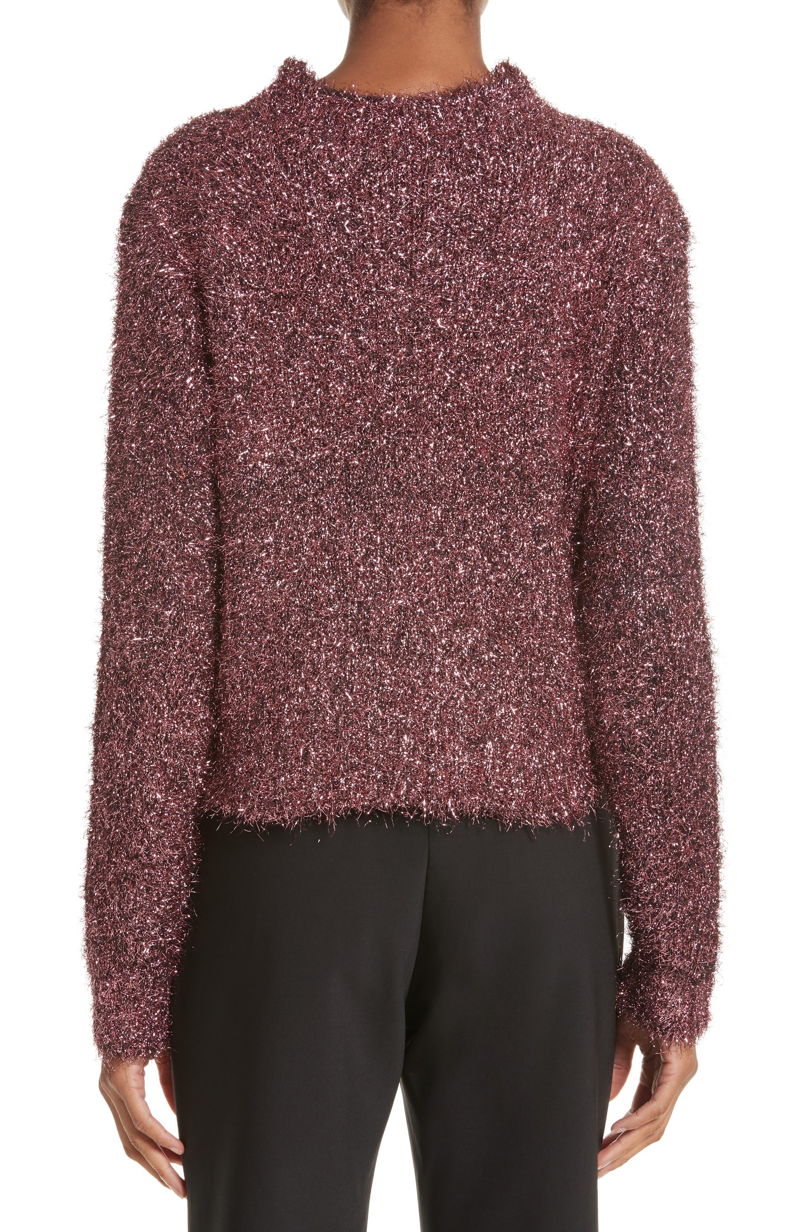 Vaporize Textured Metallic Sweater,                             Alternate thumbnail 2, color,                             Pink