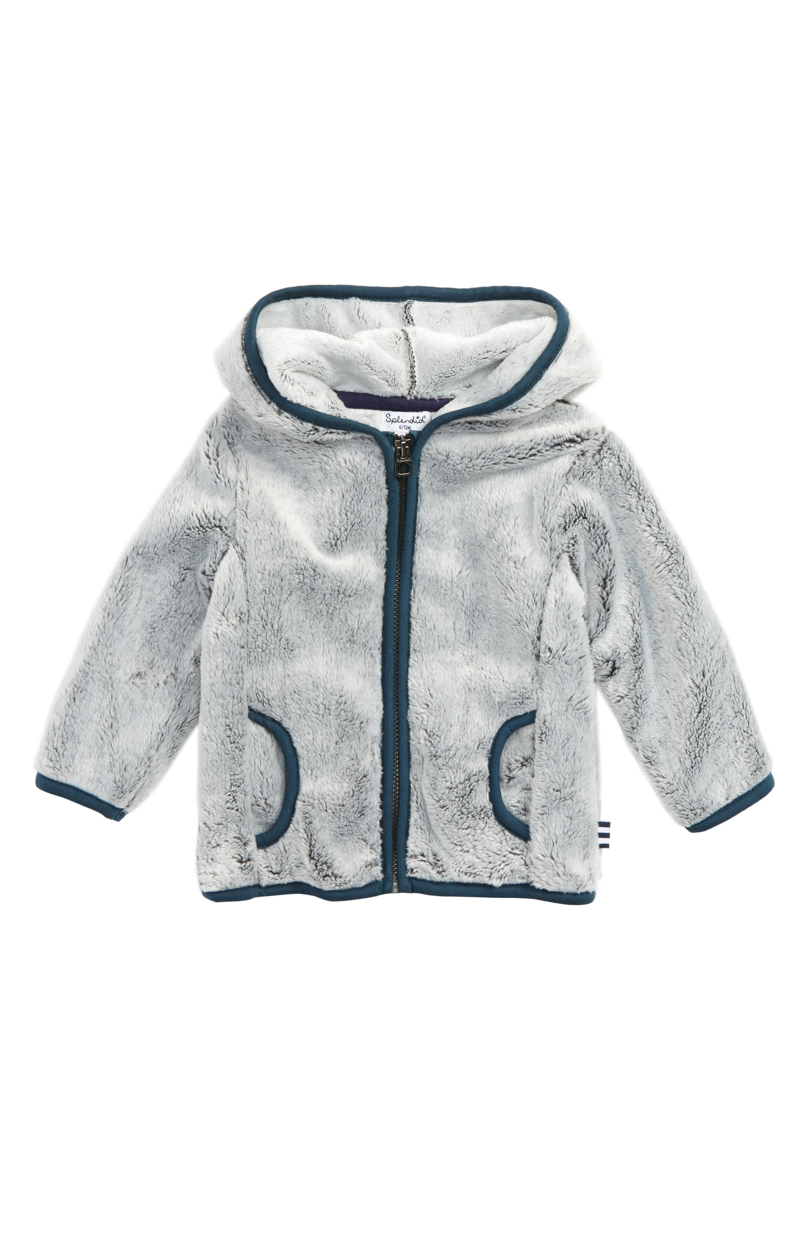 Splendid Hooded Fleece Jacket (Baby Boys)