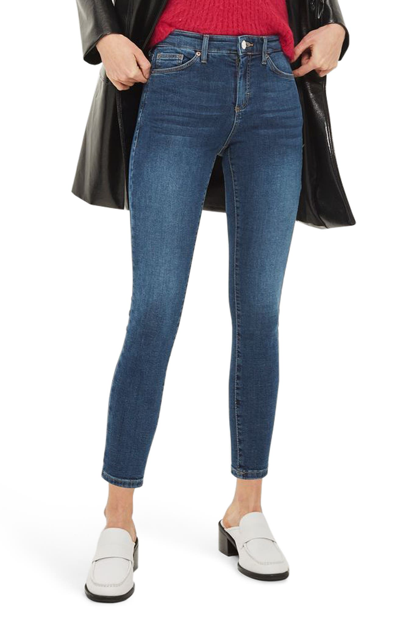 Main Image - Topshop Sidney Ankle Skinny Jeans (Petite)