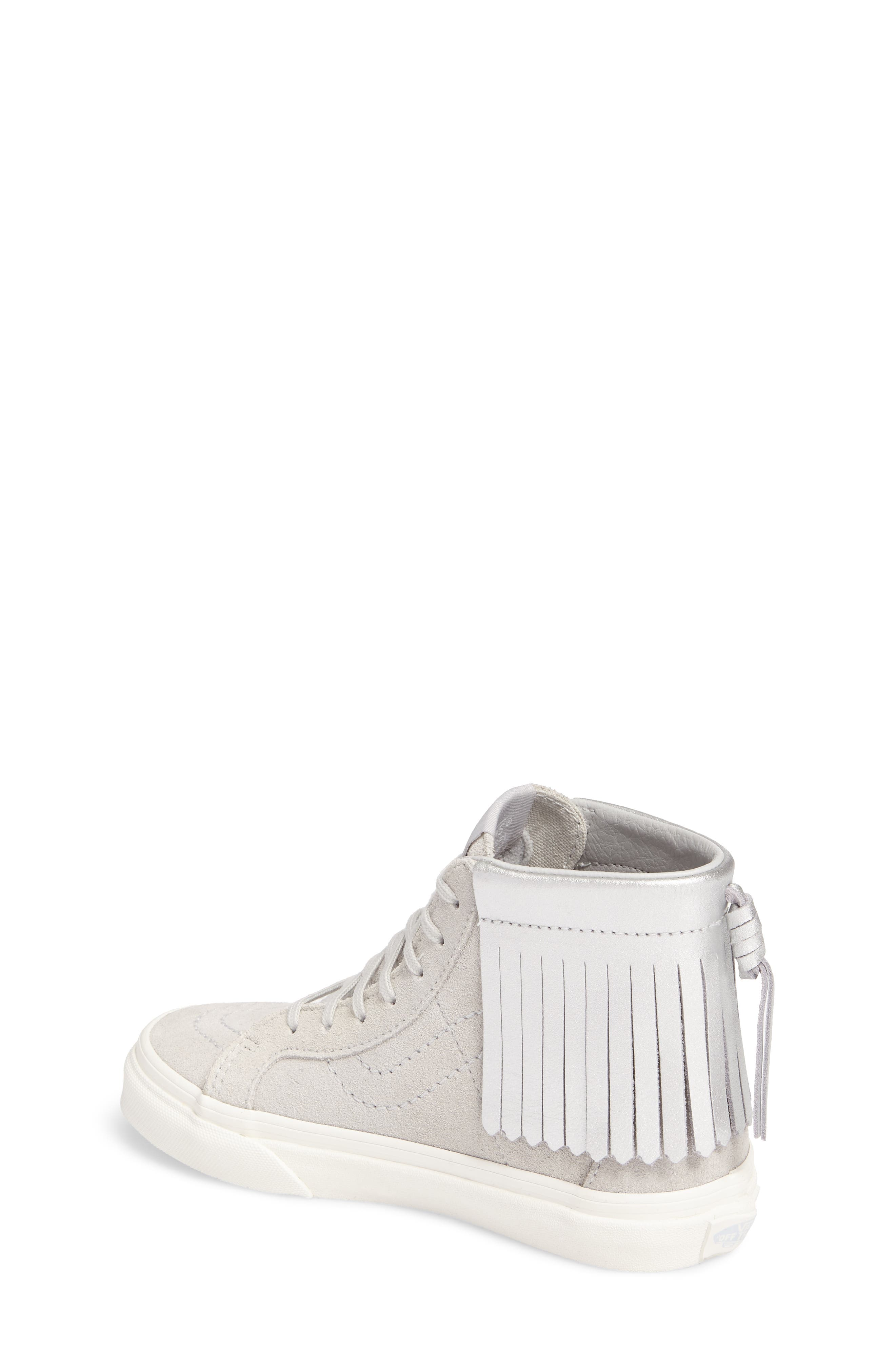 Sk8-Hi Moc Sneaker,                             Alternate thumbnail 2, color,                             Metallic Glacier Gray
