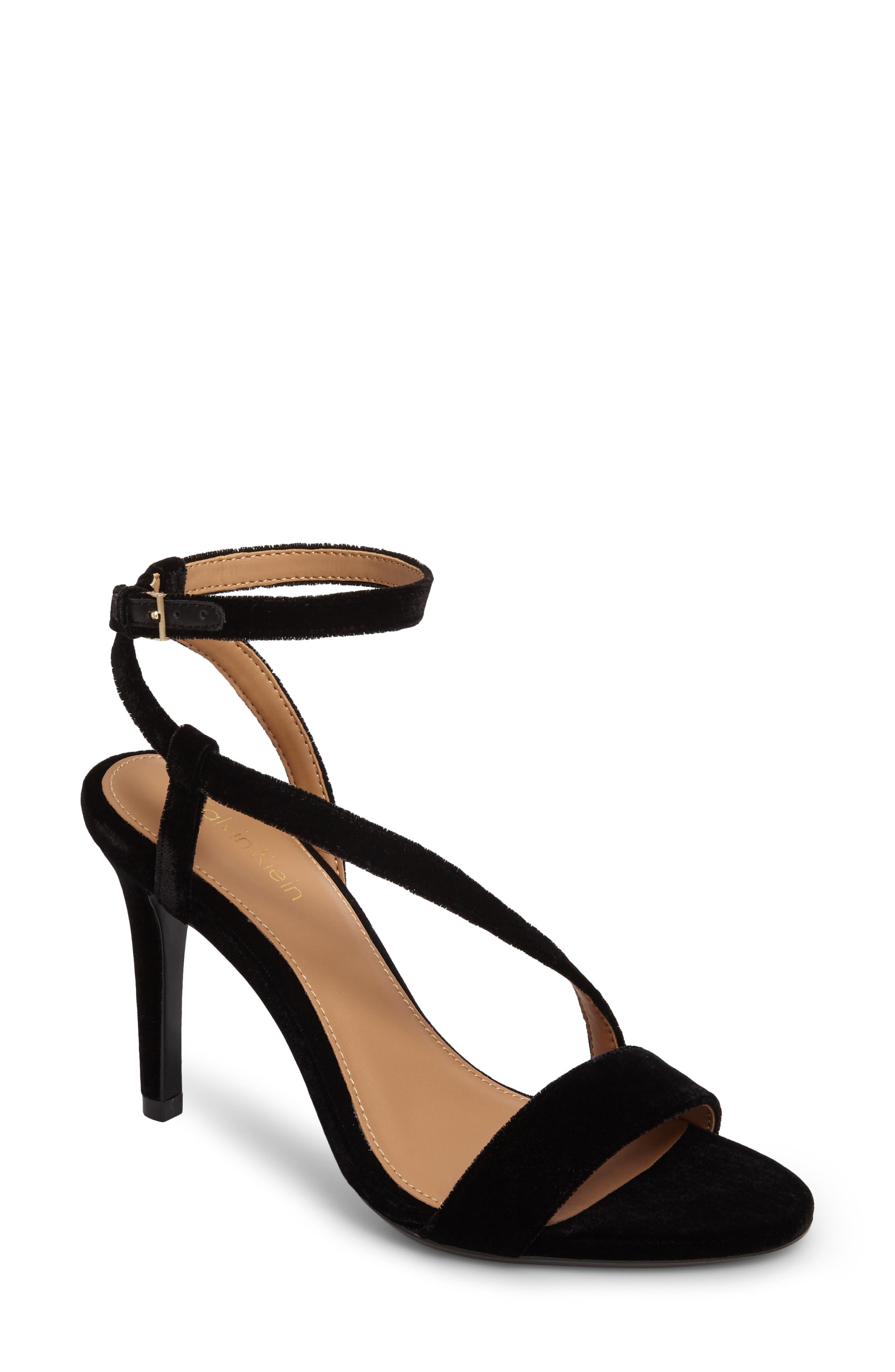 Nyssa Sandal,                         Main,                         color, Black Velvet