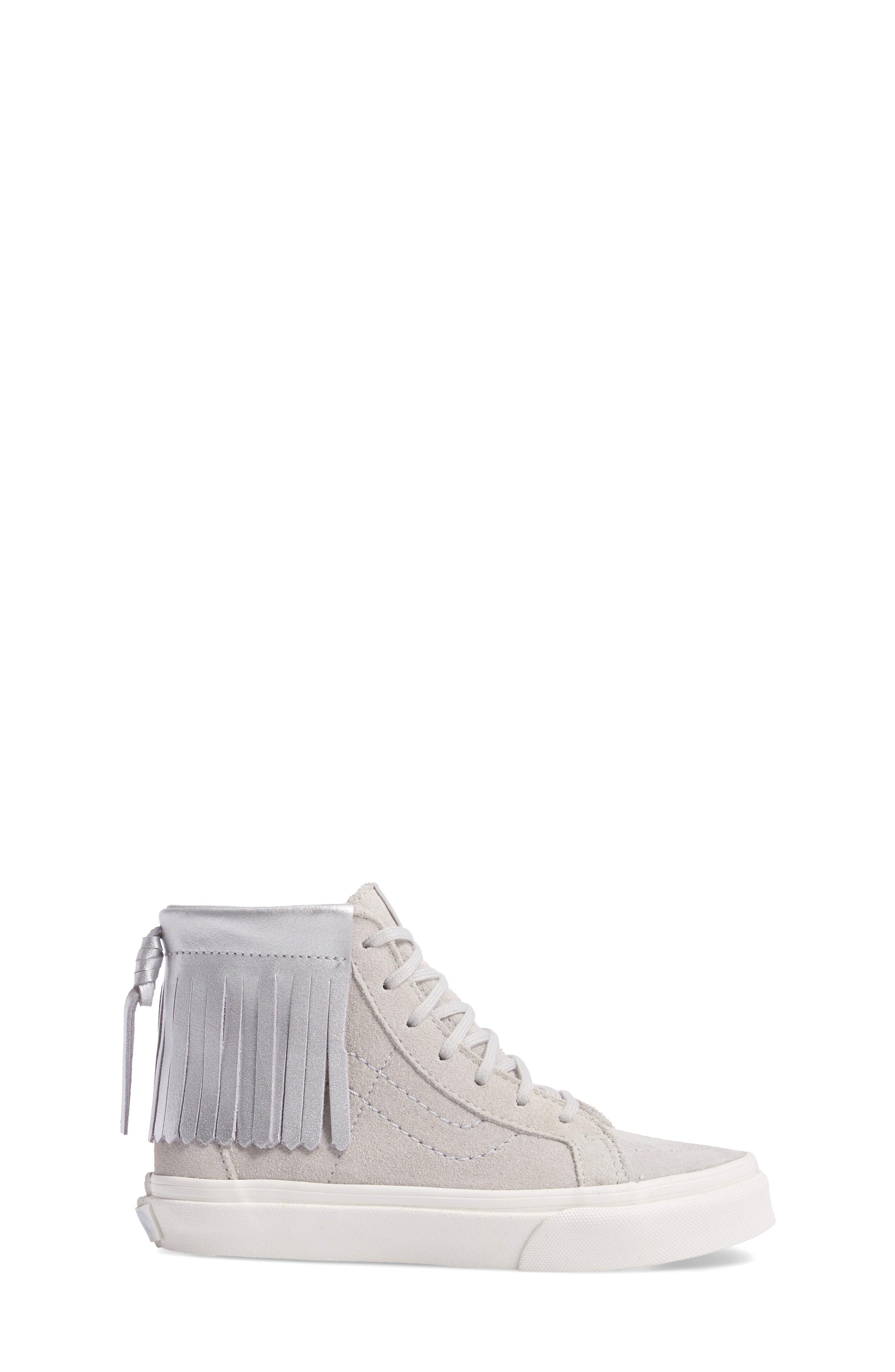 Sk8-Hi Moc Sneaker,                             Alternate thumbnail 3, color,                             Metallic Glacier Gray