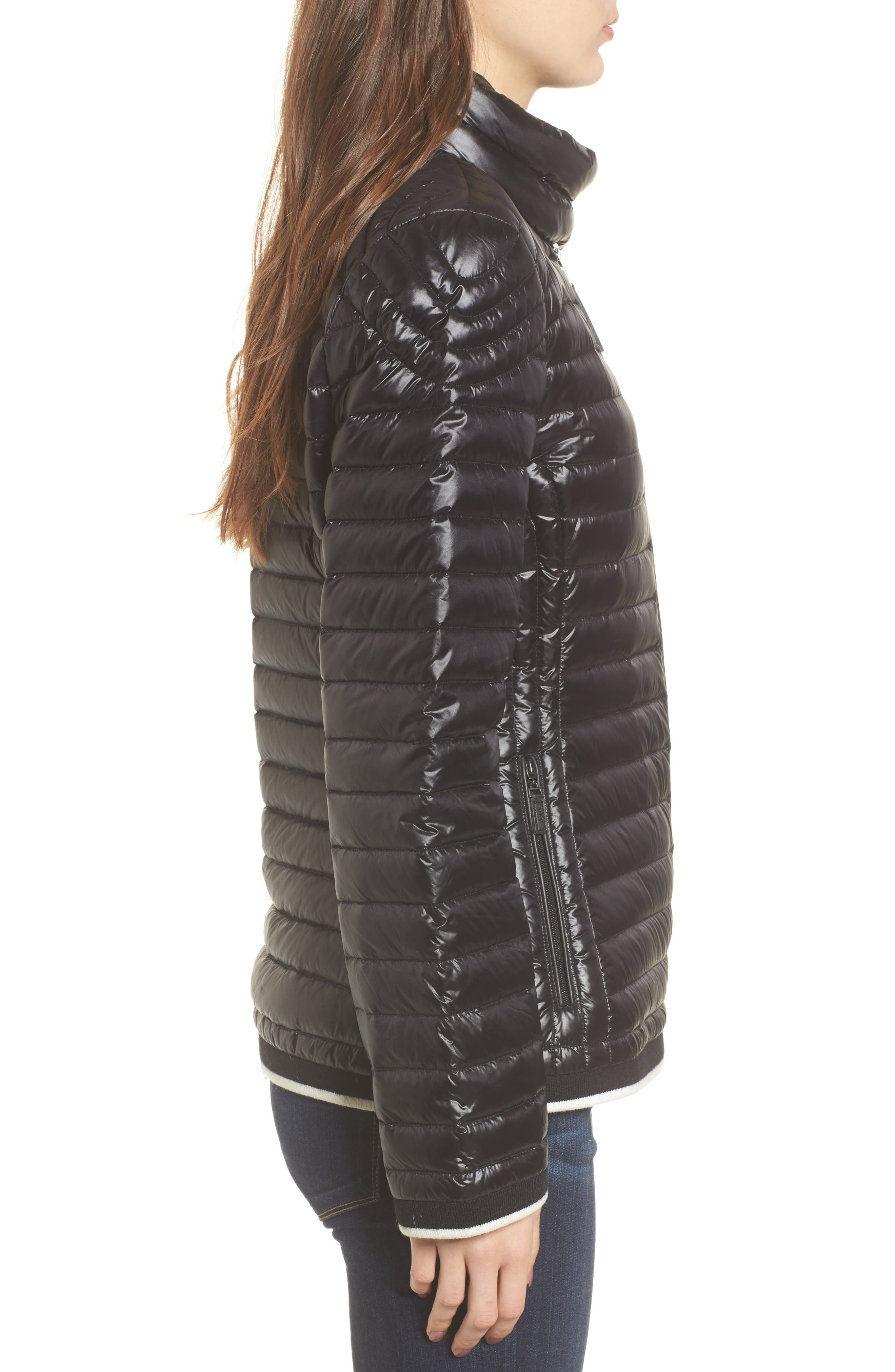 Alternate Image 3  - Marc New York Stripe Trim Packable Down Jacket
