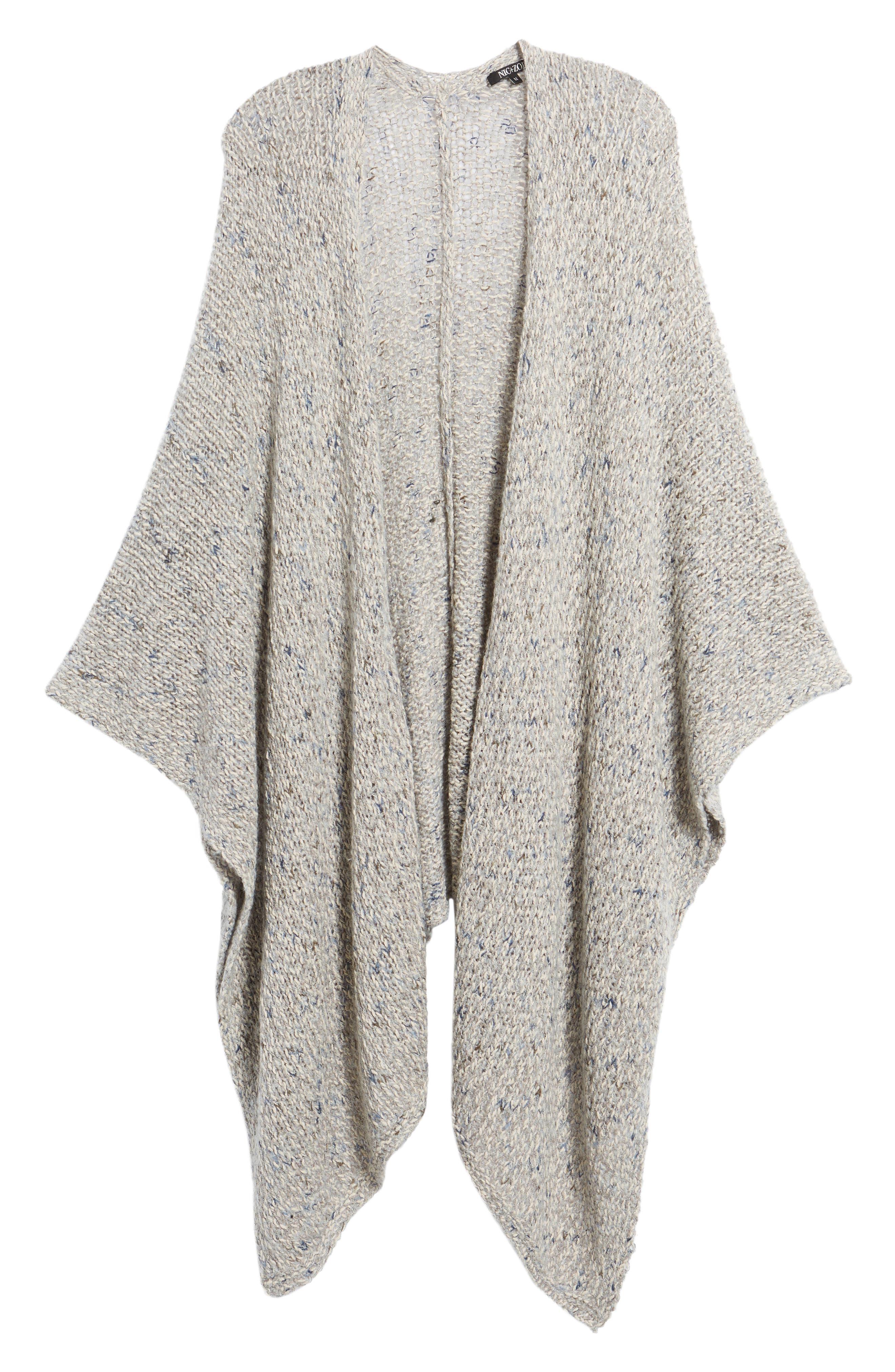 Alternate Image 6  - NIC+ZOE Luna Cotton Blend Knit Wrap Cape