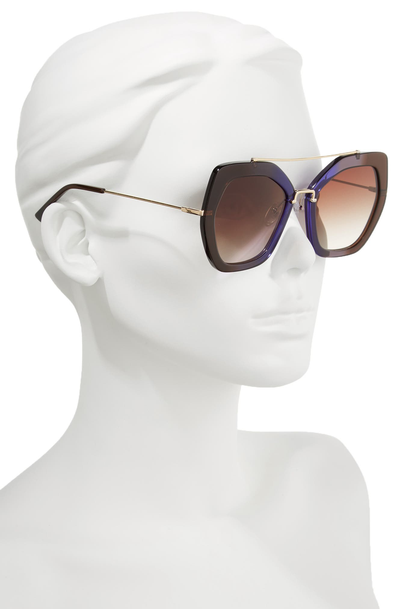 Alternate Image 2  - Alice + Olivia Bowery 55mm Geometric Sunglasses