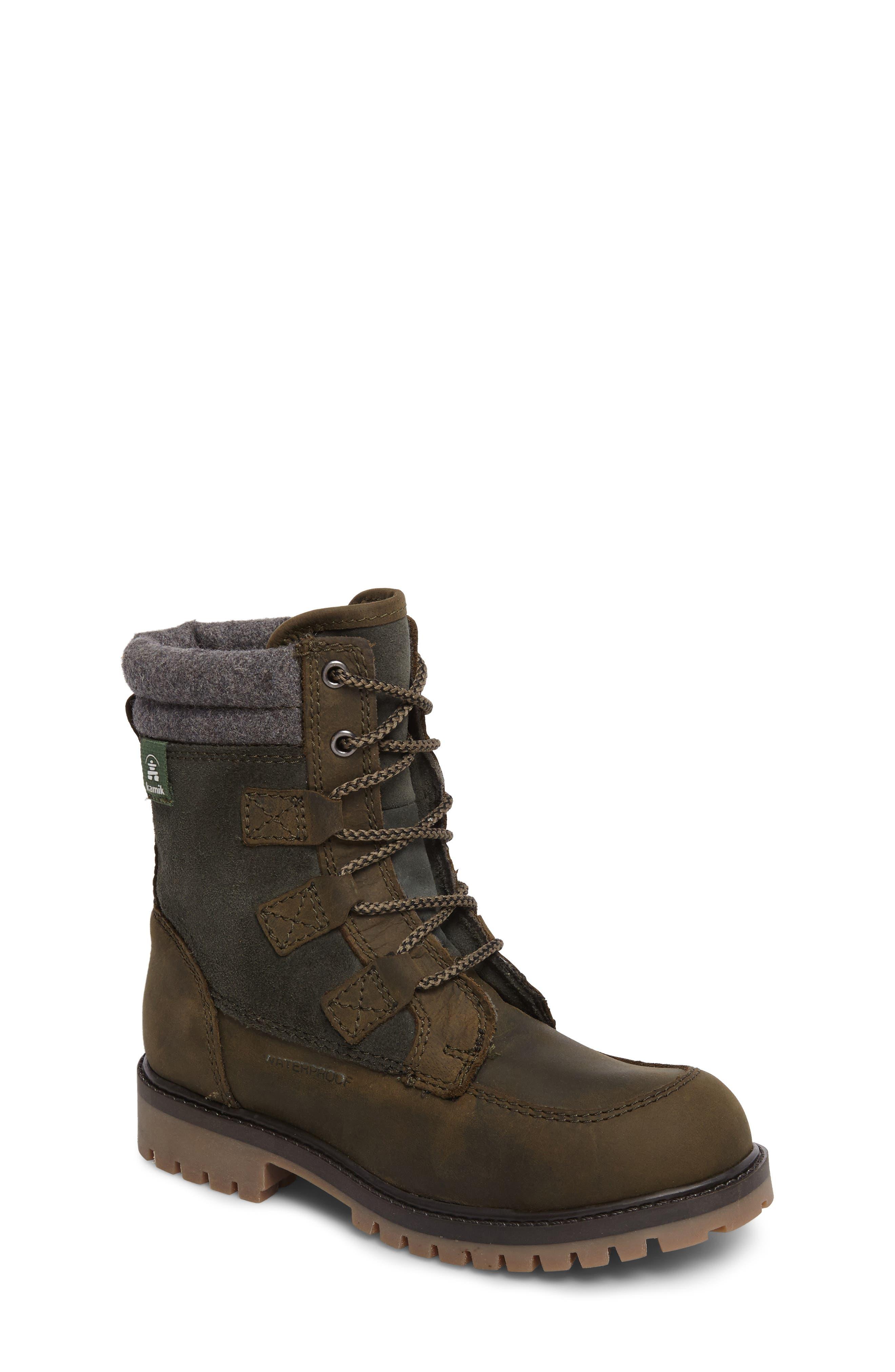 Takodalo Waterproof Boot,                         Main,                         color, Olive
