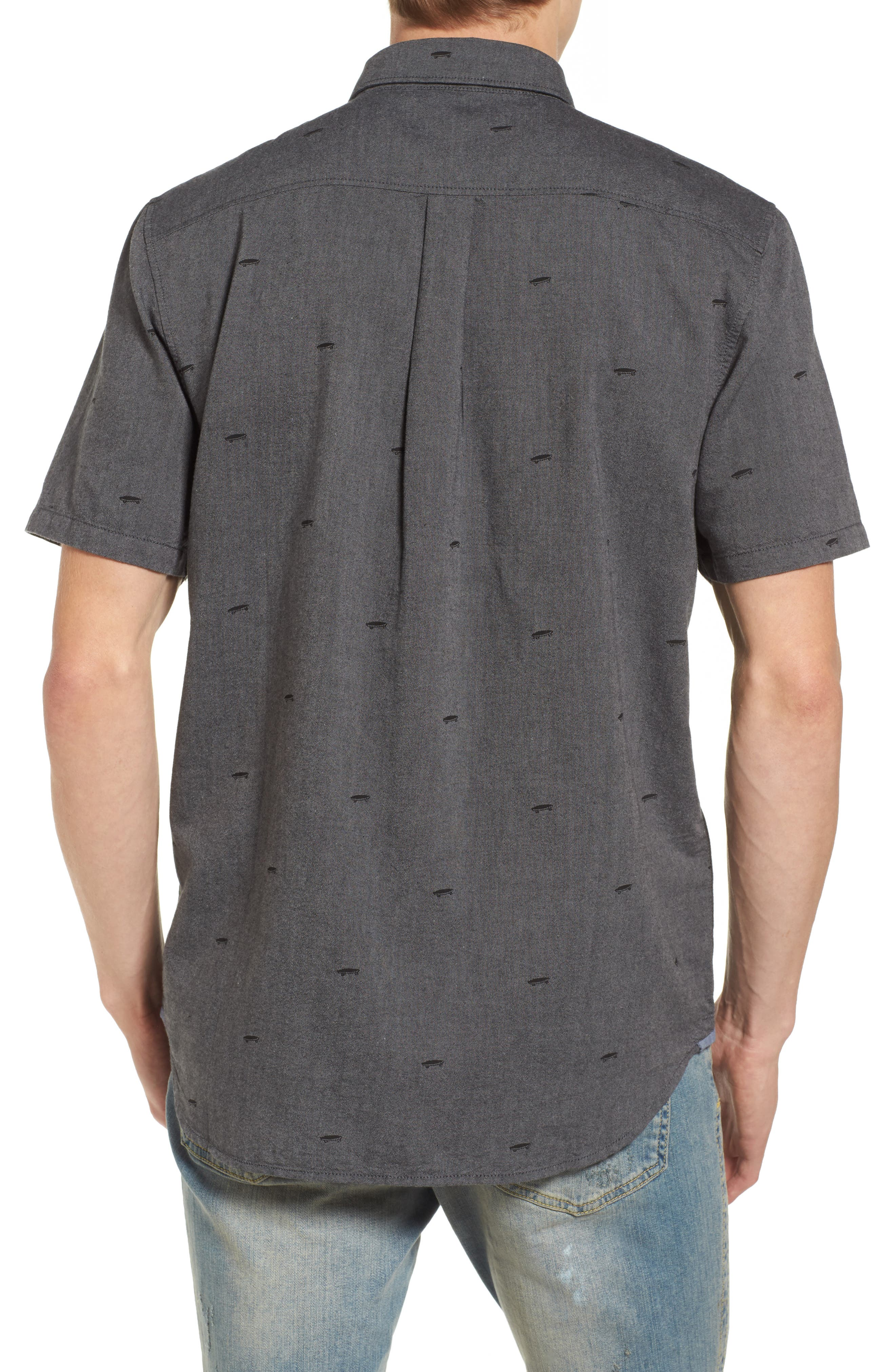 Houser Woven Shirt,                             Alternate thumbnail 2, color,                             Black Salton Ditsy