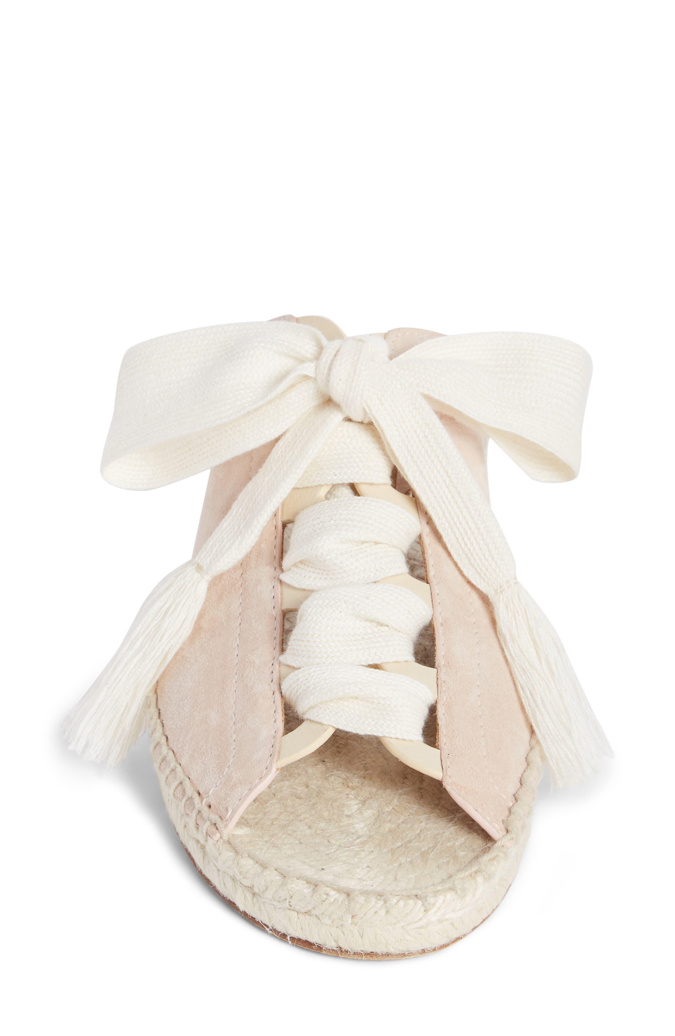 Harper Lace-Up Espadrille Slide Sandal,                             Alternate thumbnail 3, color,                             Maple Pink