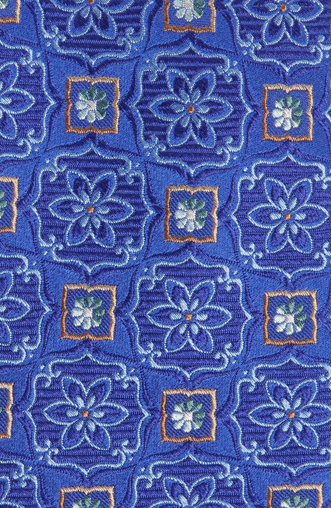 Floral Medallion Silk Tie,                             Alternate thumbnail 2, color,                             Royal