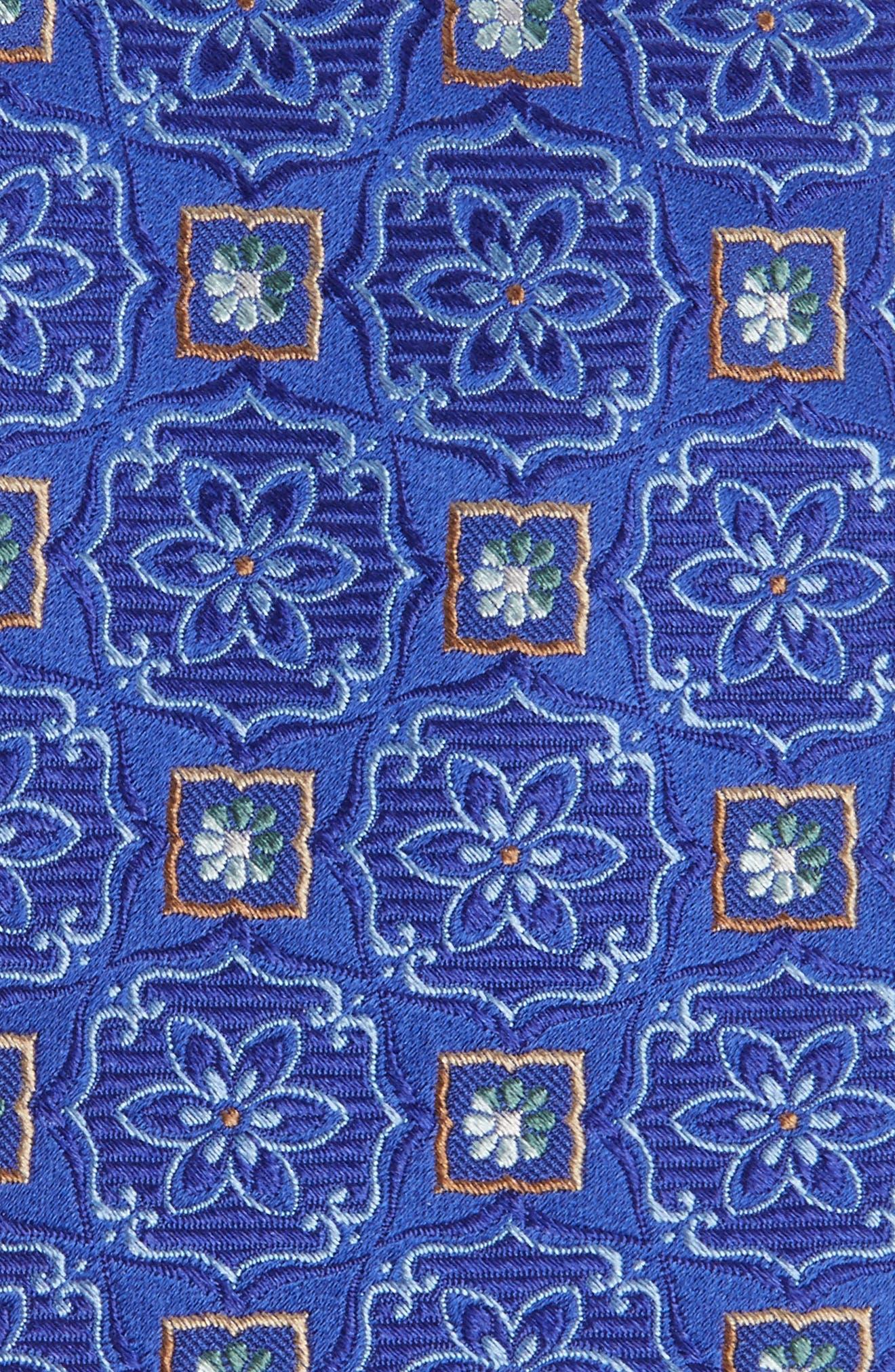 Alternate Image 2  - Nordstrom Men's Shop Floral Medallion Silk Tie