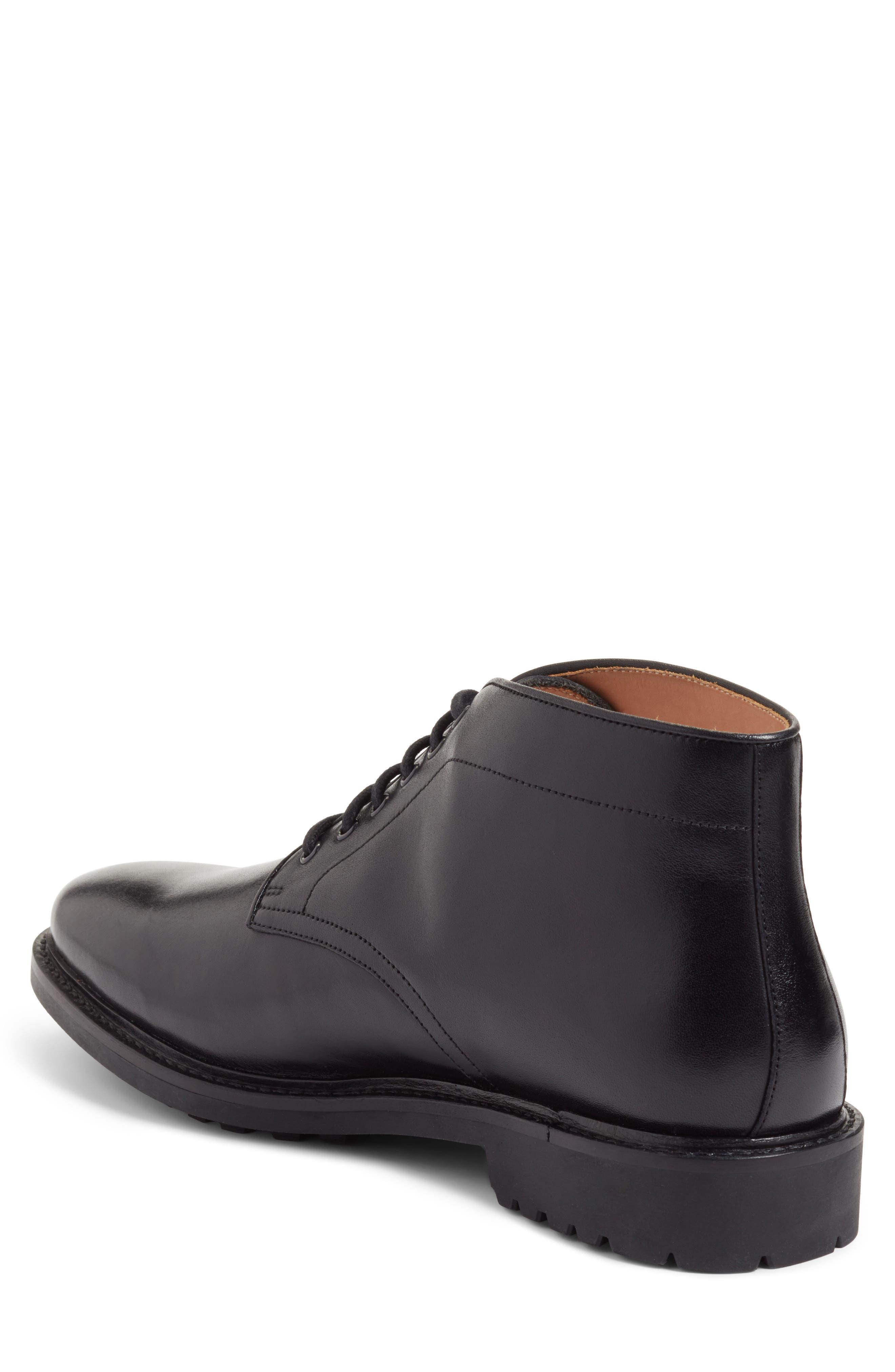 Ramiro Plain Toe Boot,                             Alternate thumbnail 2, color,                             Black Leather