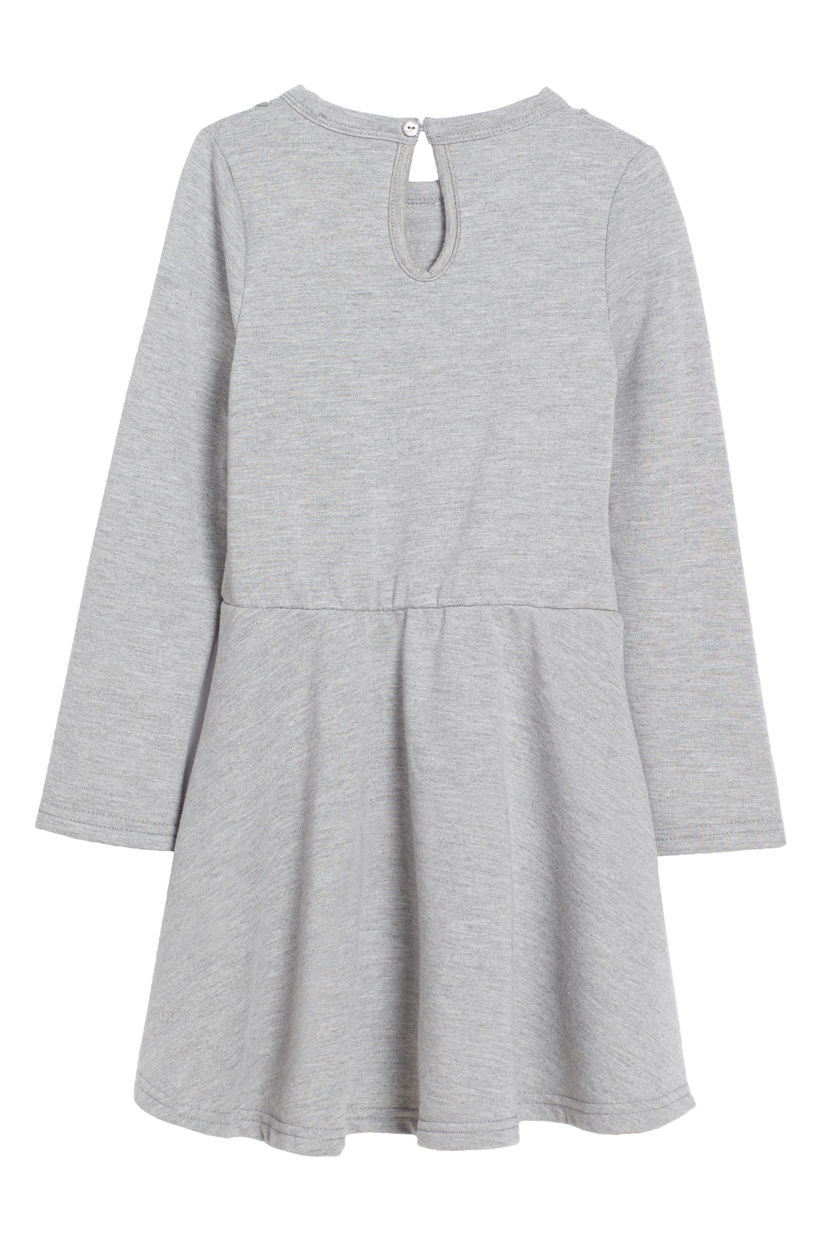 Frill of It Ruffle Dress,                             Alternate thumbnail 2, color,                             Grey Marble