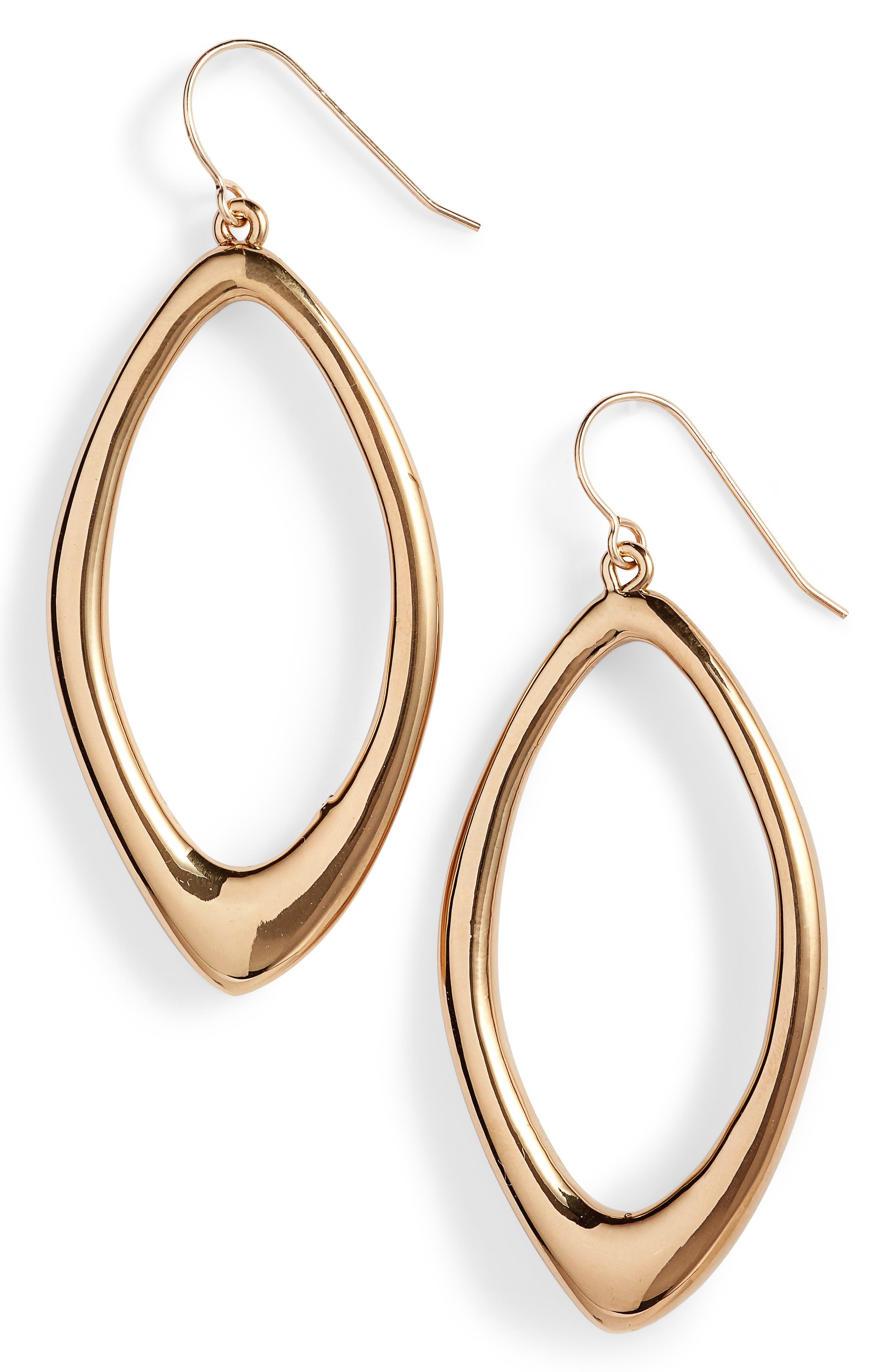 Simon Sebbag Vermeil Oval Drop Earrings