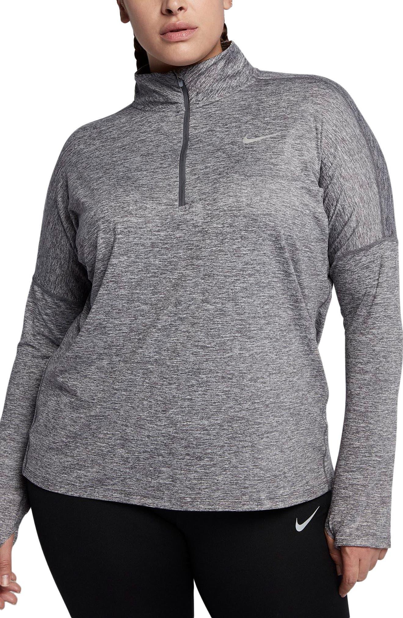 Main Image - Nike Dry Element Half Zip Top (Plus Size)