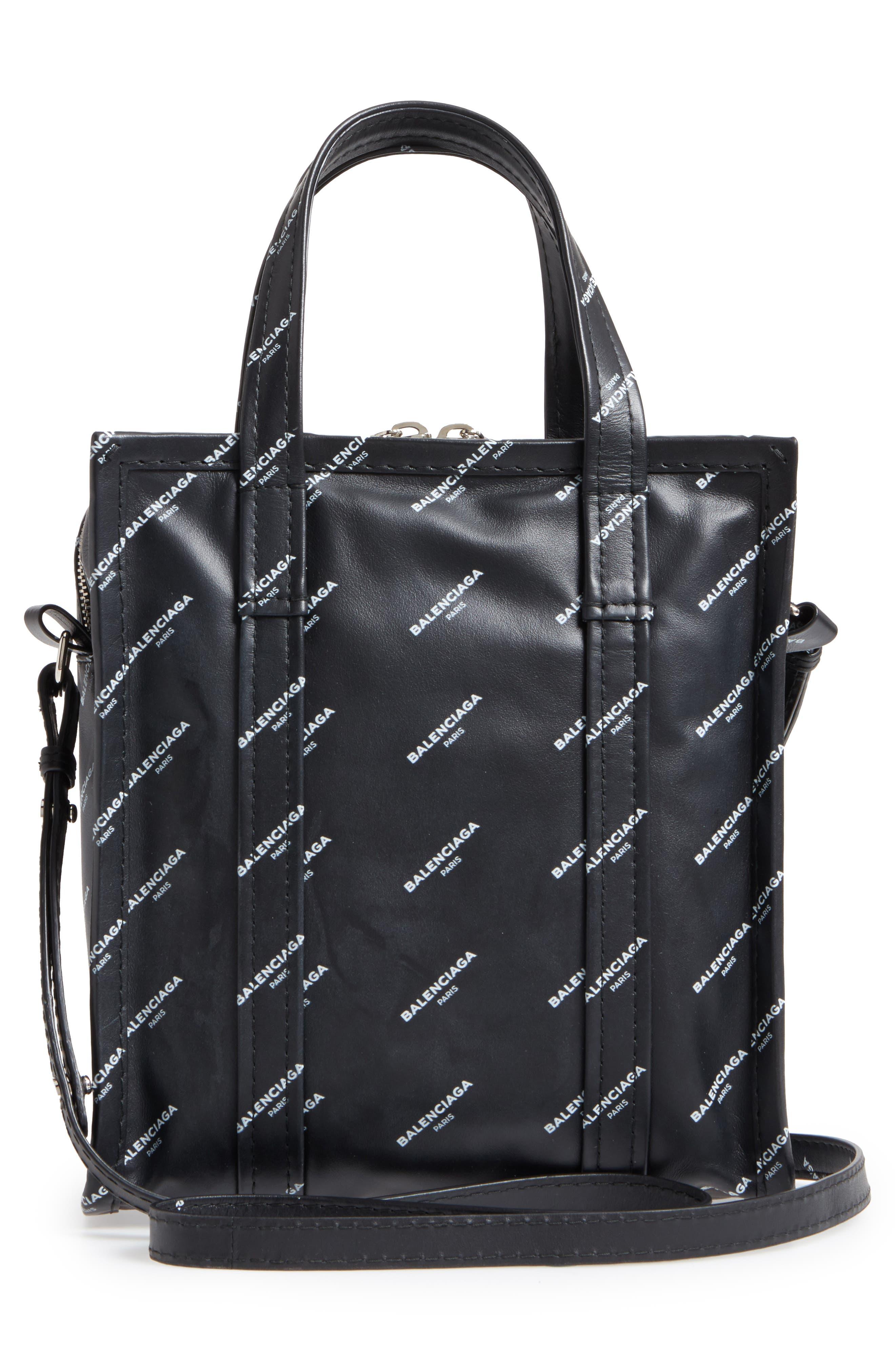 Alternate Image 3  - Balenciaga Extra Small Bazar Logo Leather Shopper