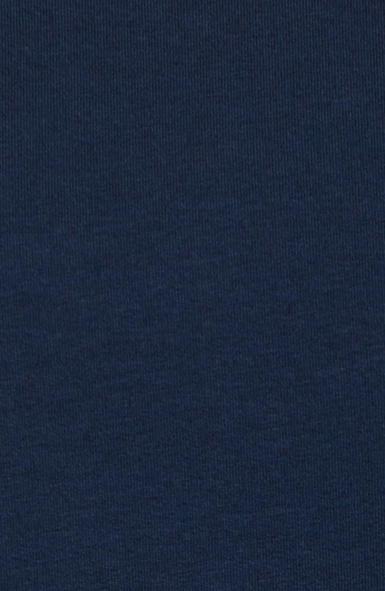 Bernadette Bell Sleeve Sweatshirt,                             Alternate thumbnail 5, color,                             Navy